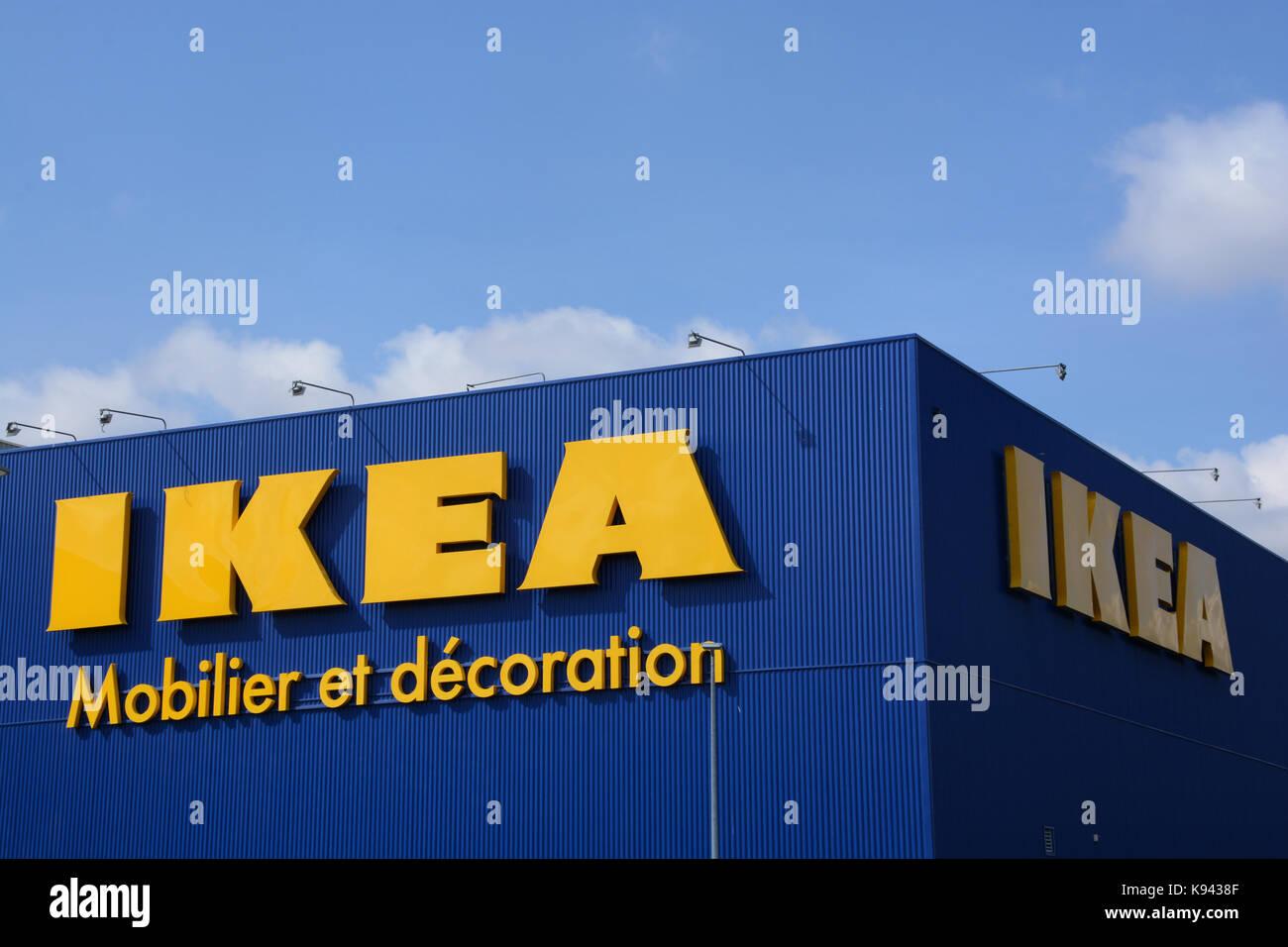 Ikea, Furniture And Decoration Shop, Clermont Ferrand, Puy De Dome, Auvergne,  France