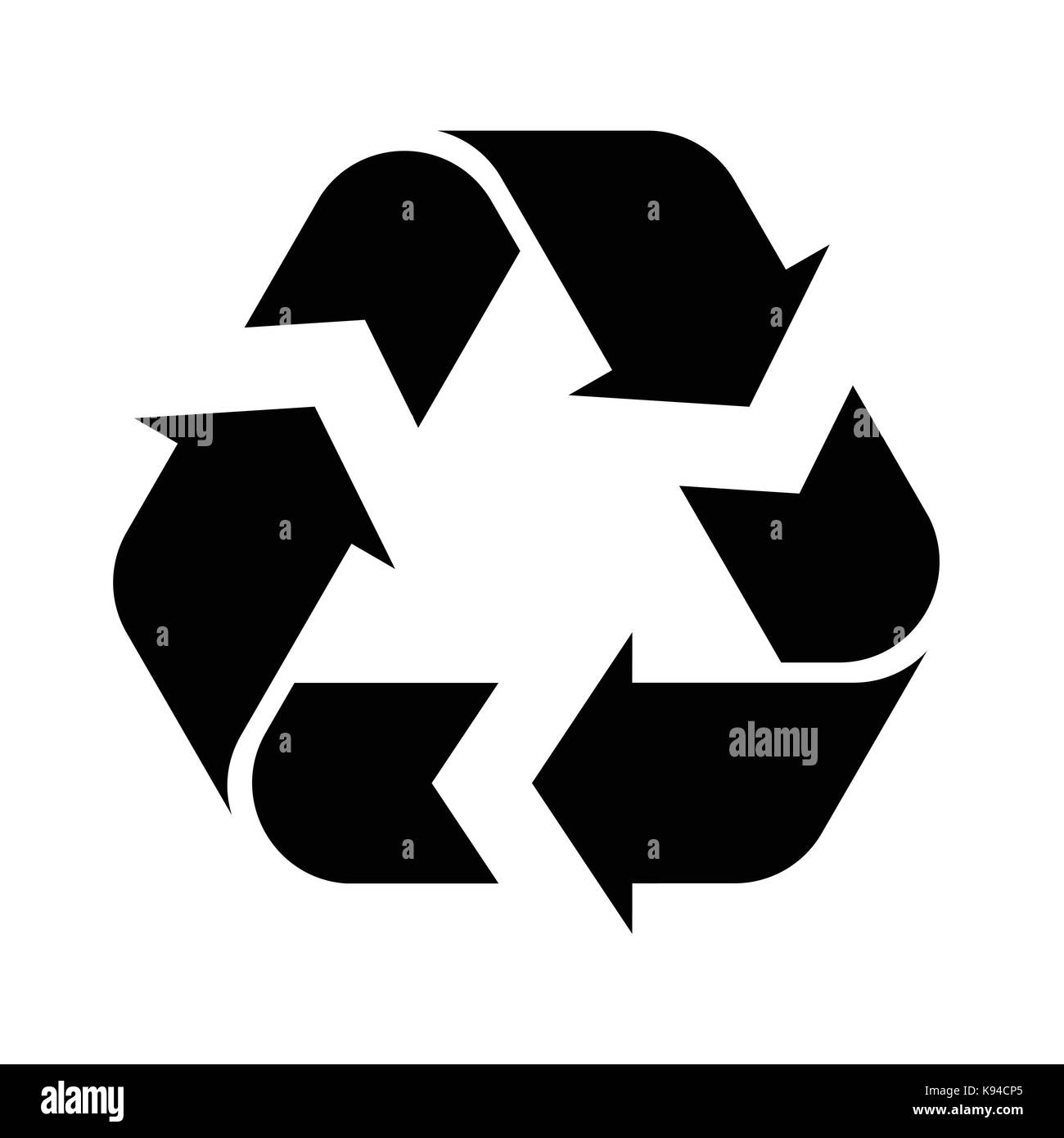 Recycle symbol black and white stock photos images alamy recycle symbol illustration isolated on a white background stock image buycottarizona Image collections