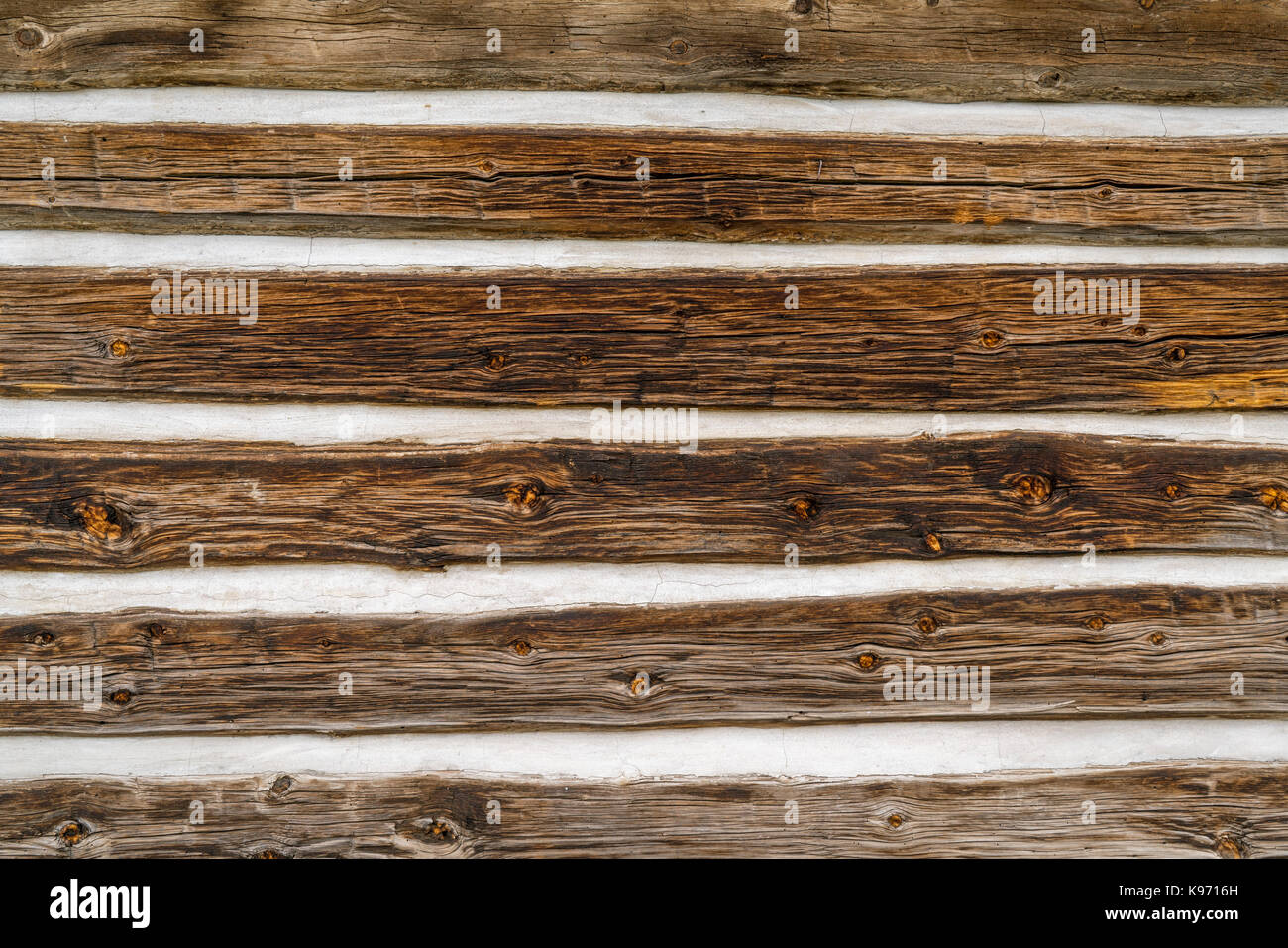 vintage log cabin wall background and texture stock photo