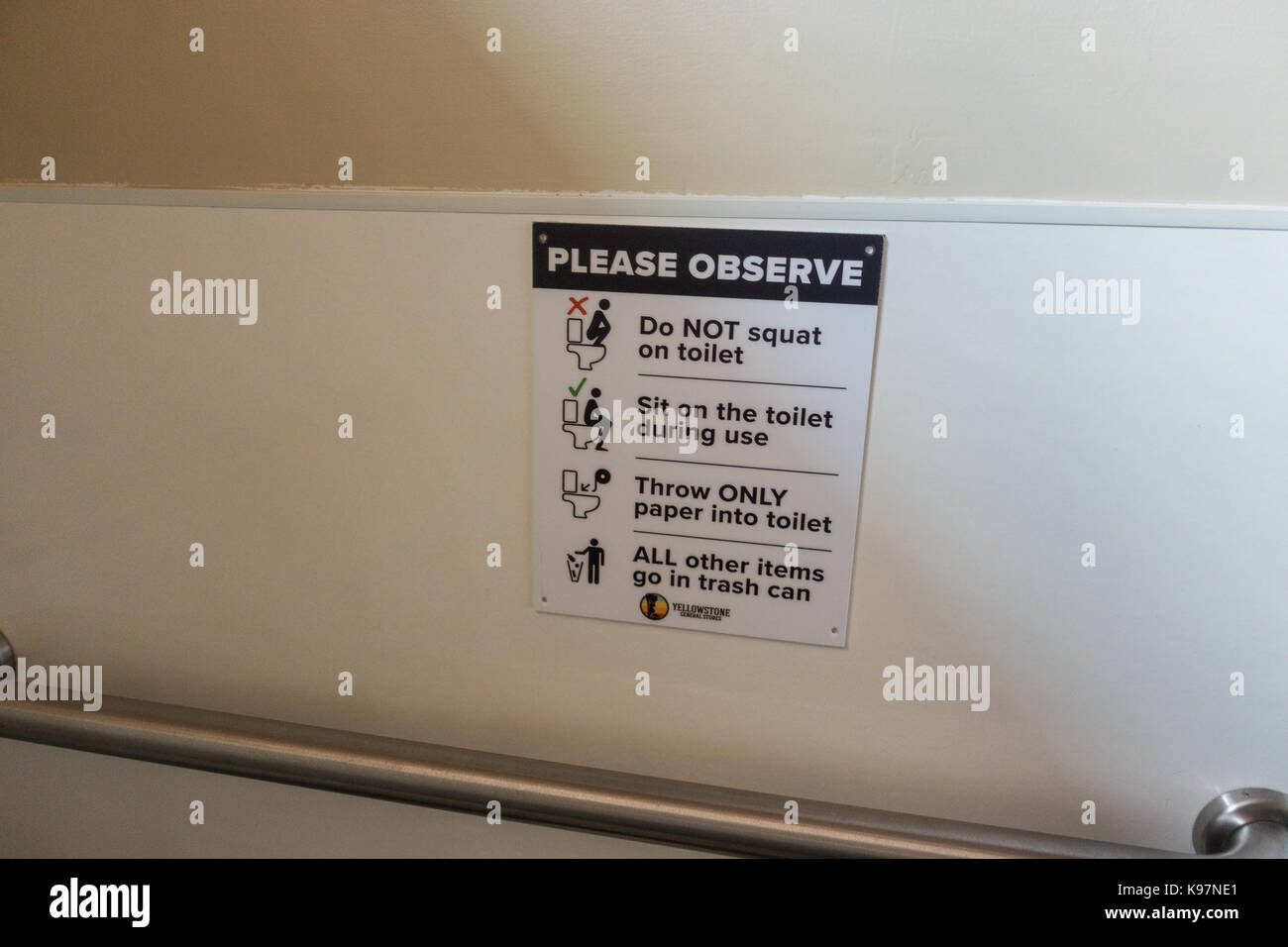 Safety information on how to use a toilet Stock Photo: 160595737 - Alamy