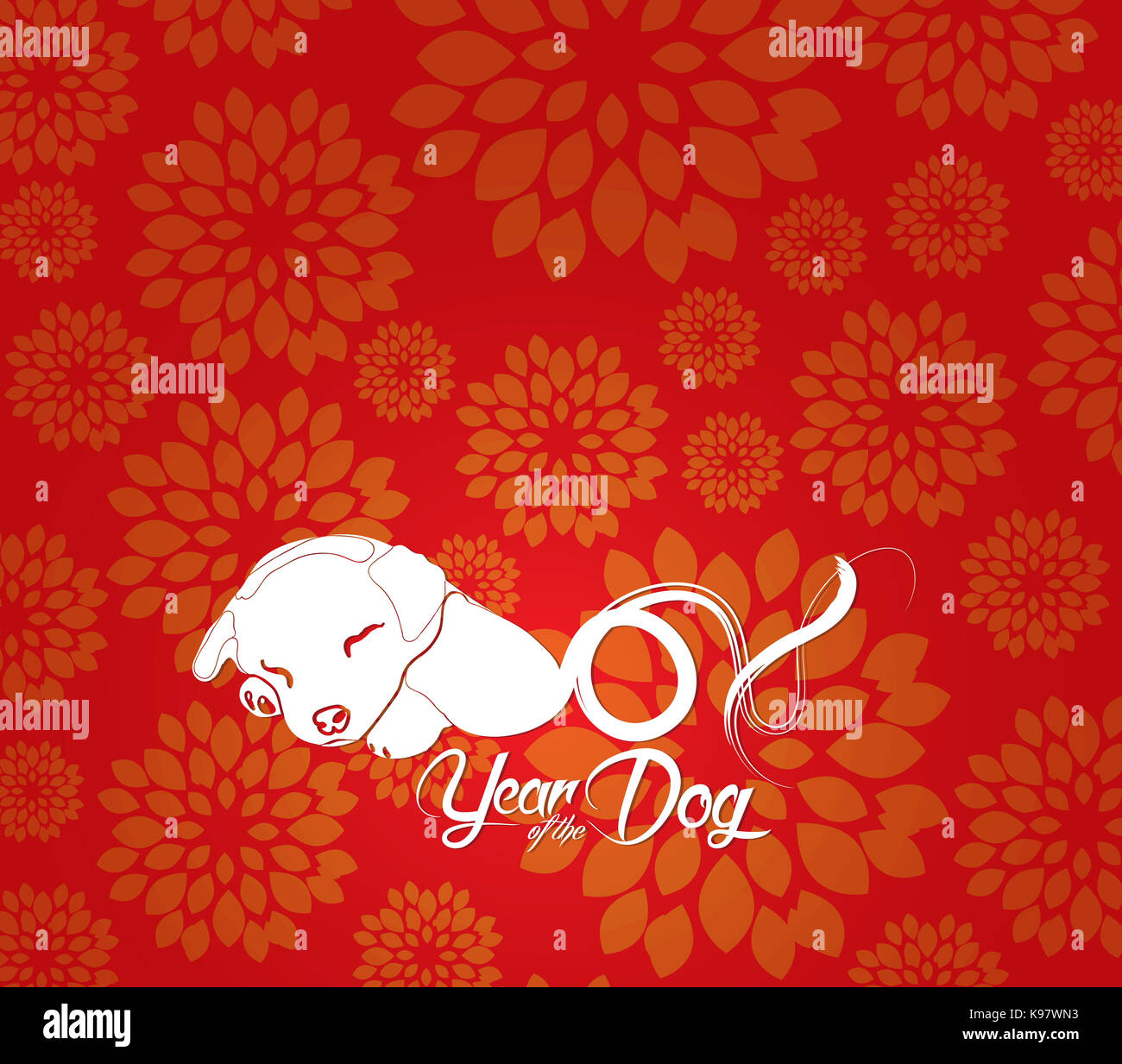 chinese new year 2018 plum blossom background
