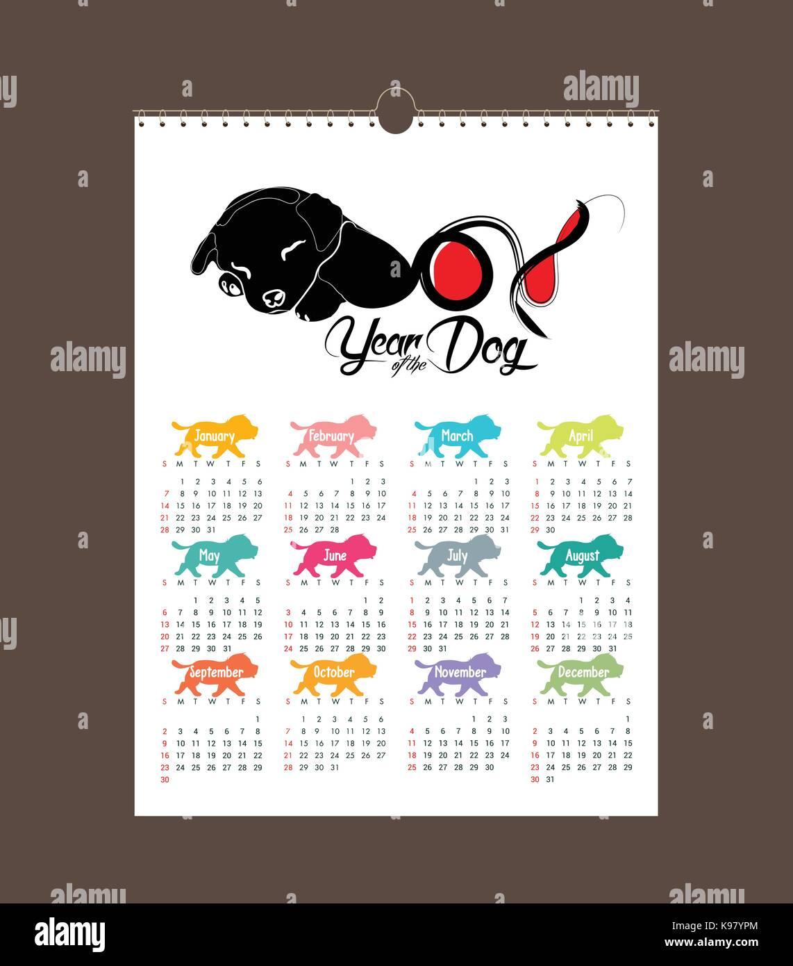 Zodiac Calendar June : Calendar design chinese new year the year of the dog zodiac