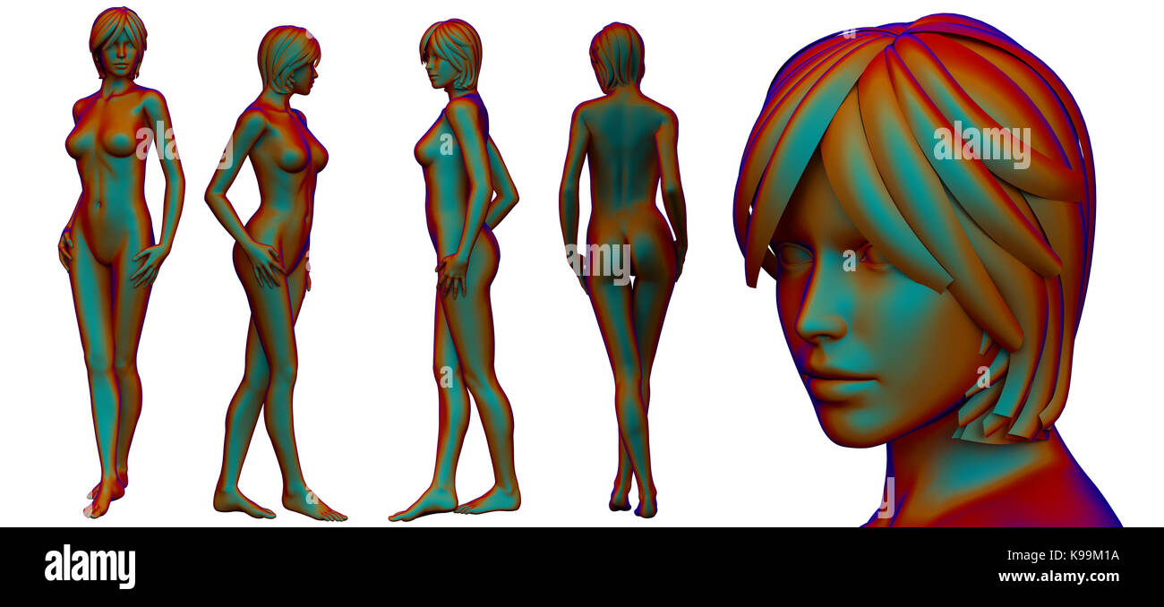 3d rendering medical illustration of the female anatomy Stock Photo ...
