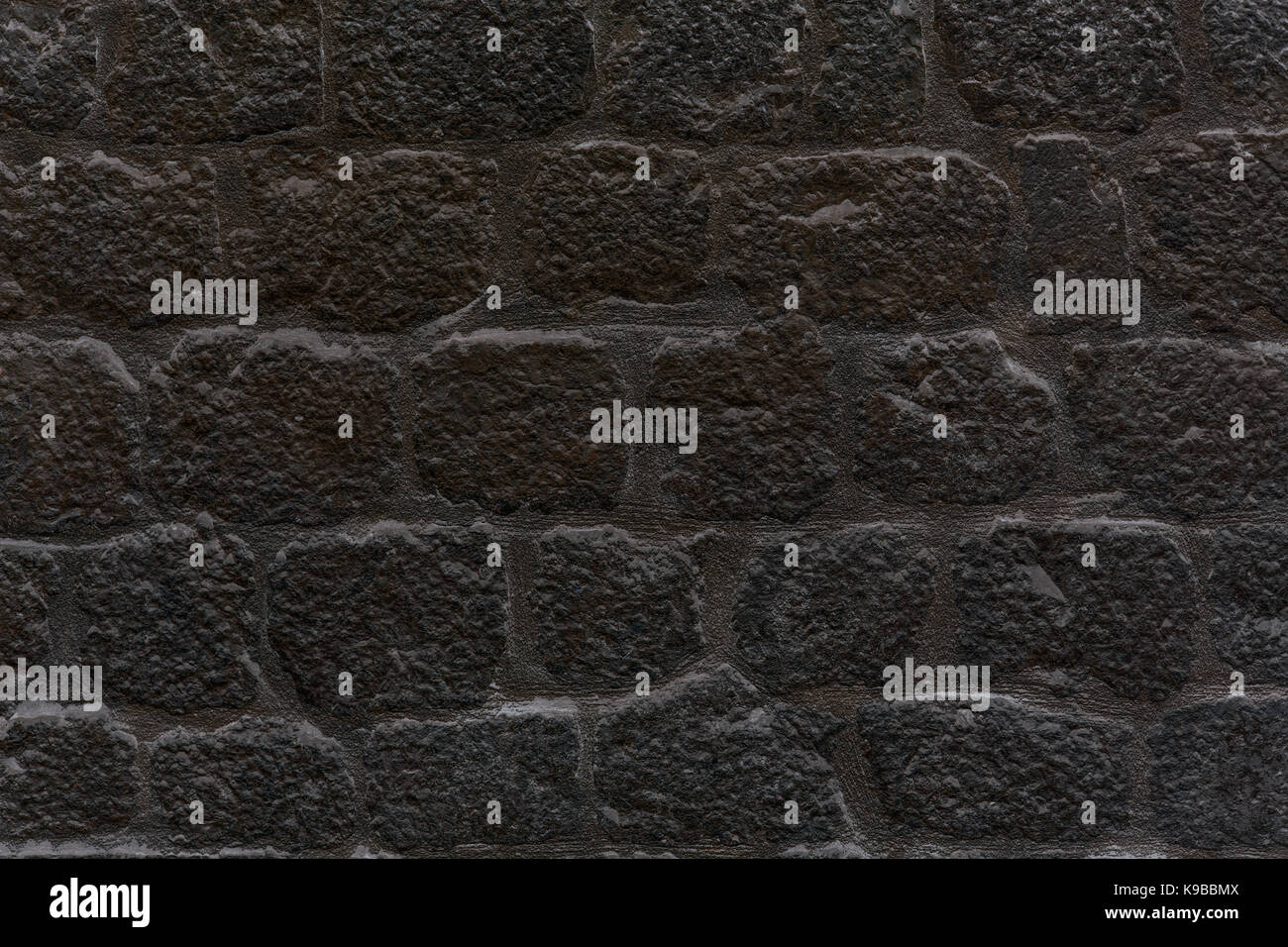 . black stone wall background or texture Stock Photo  160675898   Alamy
