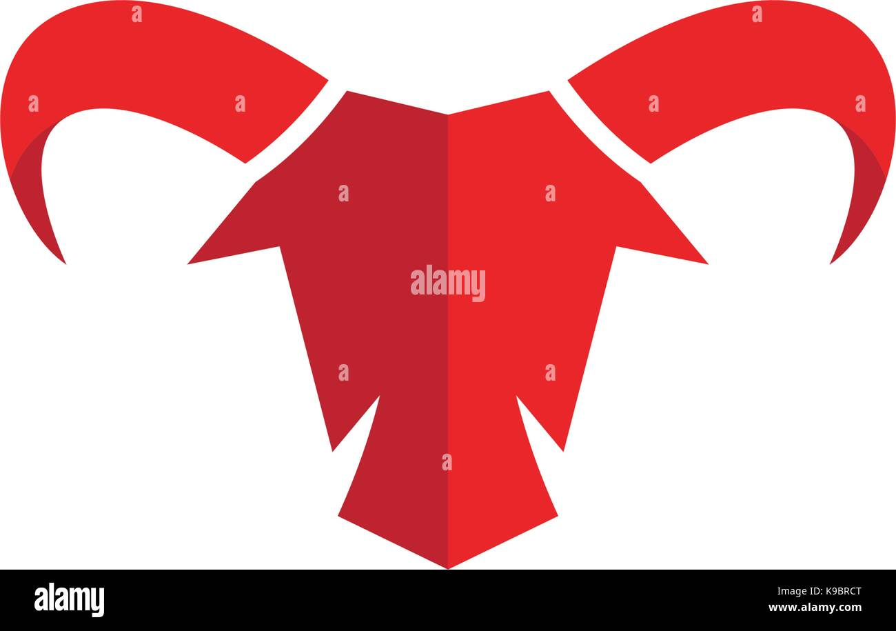 red bull taurus logo template vector icon illustration stock vector