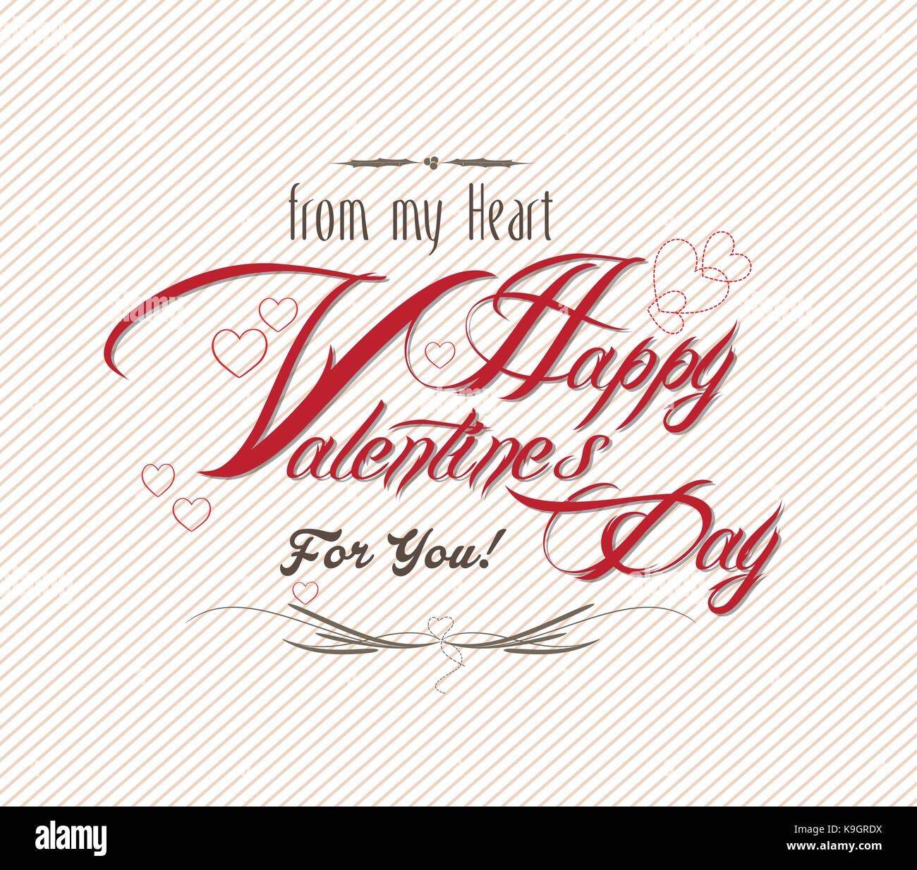 Happy Valentine S Day Hand Lettering Typographical Background