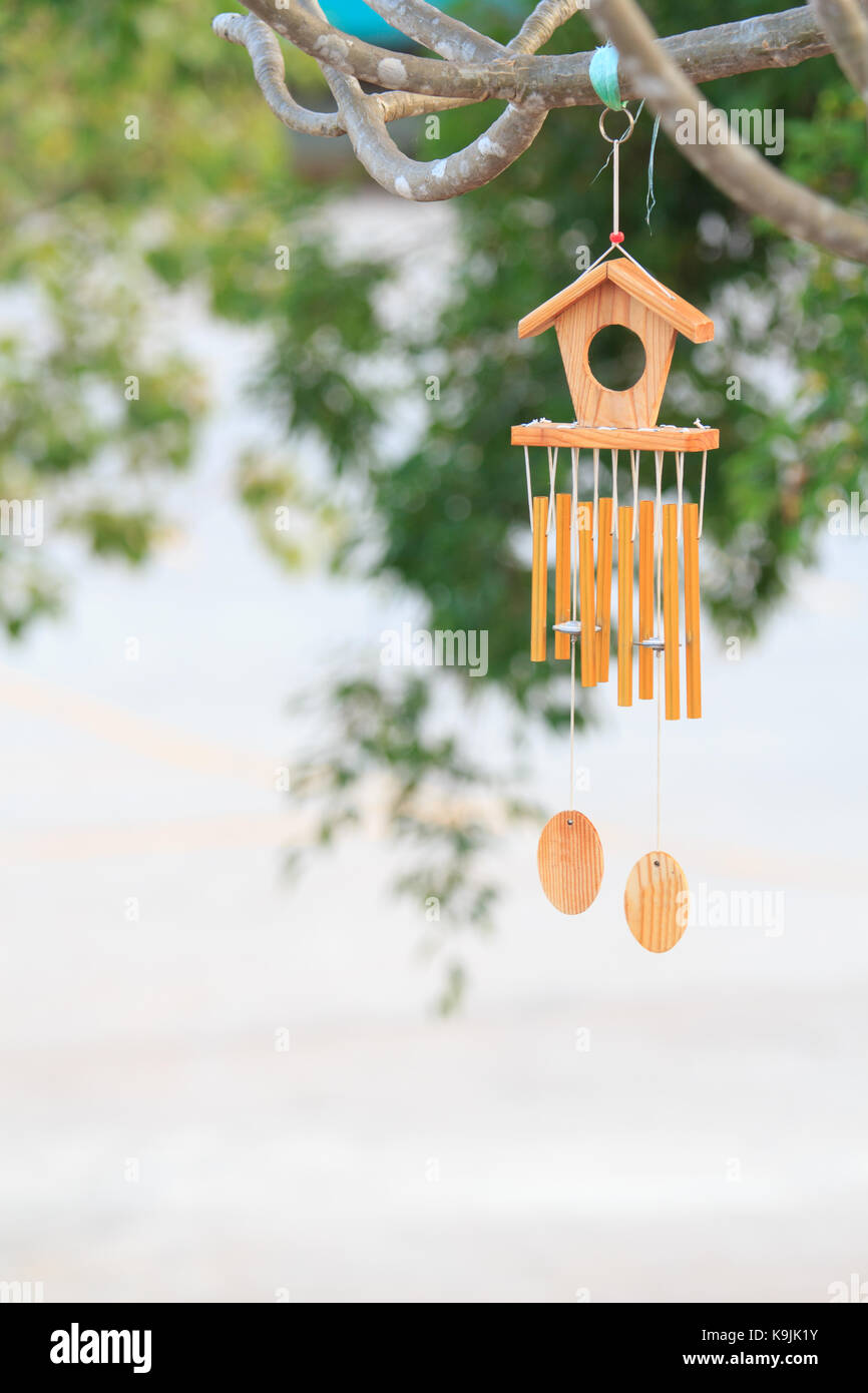 Asian wind chimes stock photos asian wind chimes stock images alamy wind bell at the tree stock image buycottarizona Choice Image