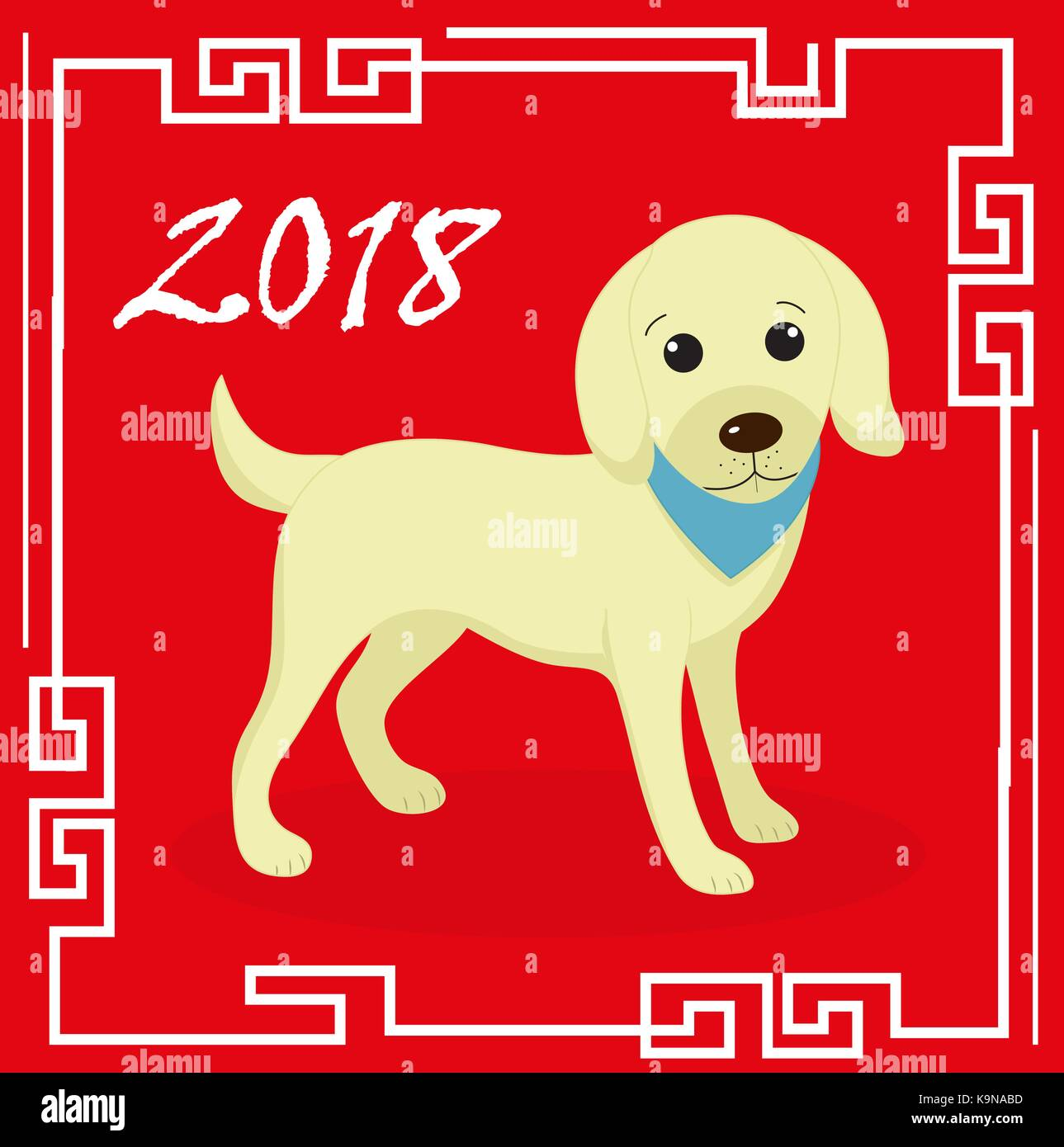 happy chinese new year 2018 greeting card with a dog china new year stock vector art. Black Bedroom Furniture Sets. Home Design Ideas