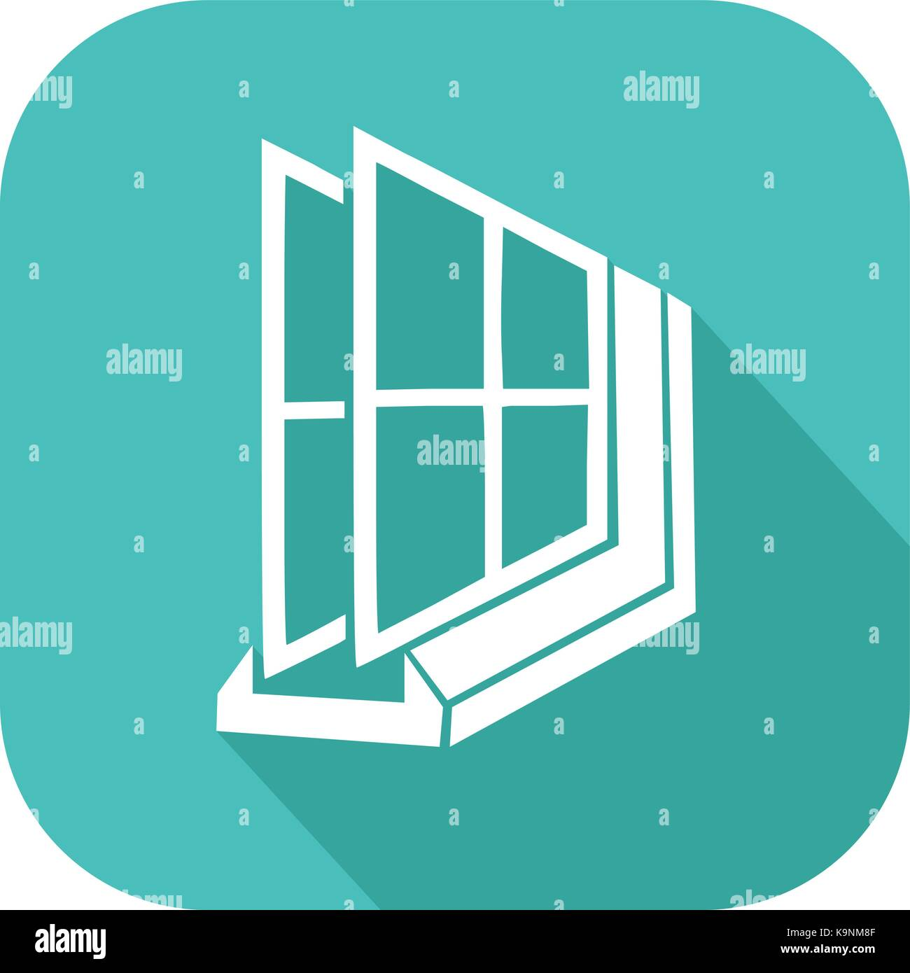 double glass window low e colorful double glass icon on house window stock vector art