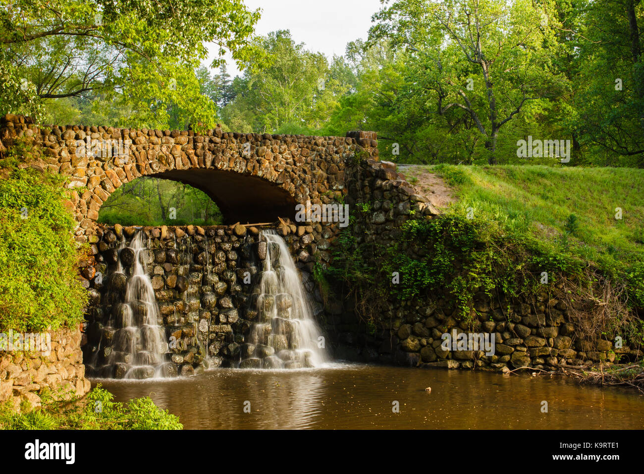 Footbridge at Reynolda Gardens in Winston-Salem, North Carolina ...