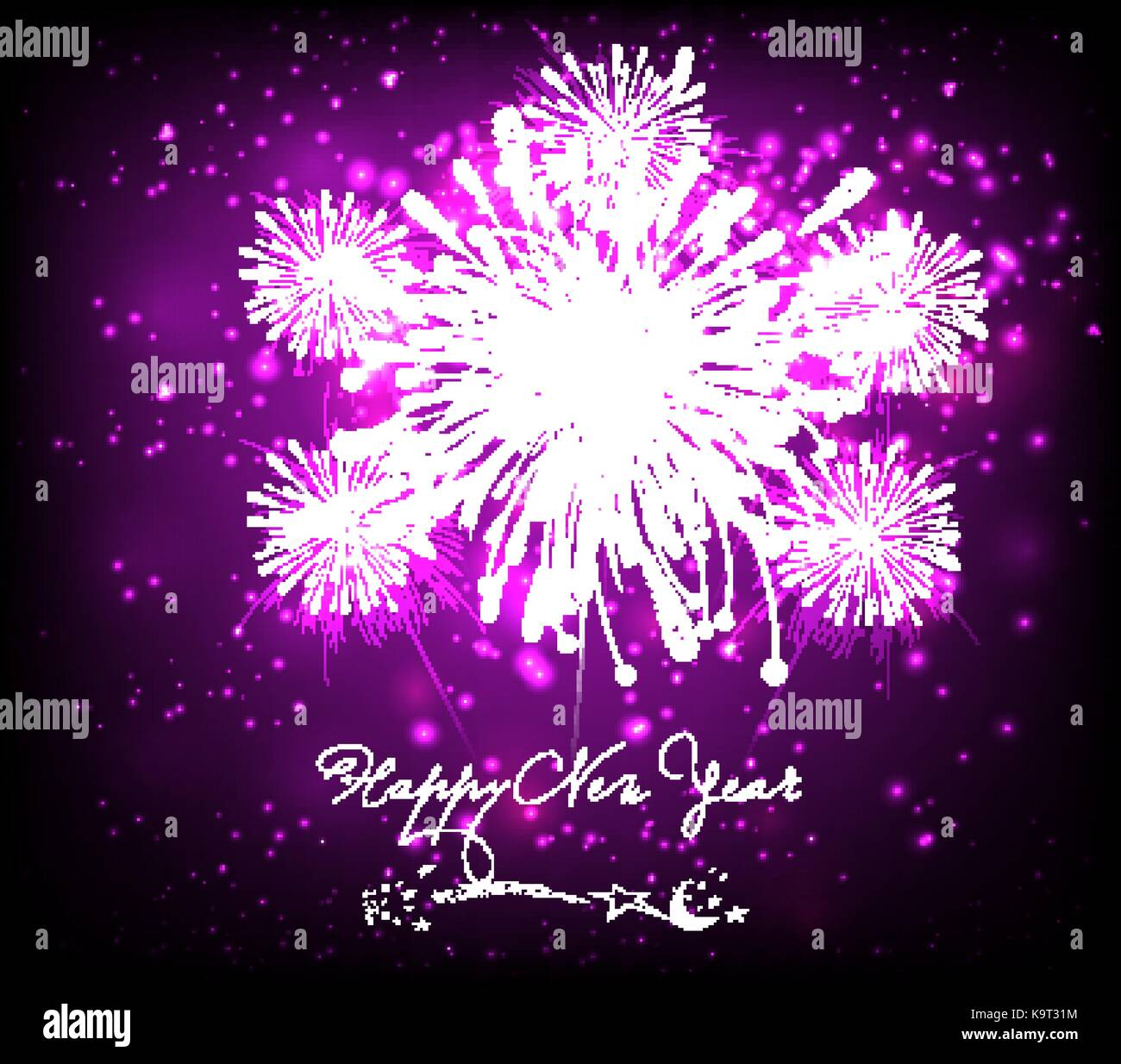 happy new year background black and purple