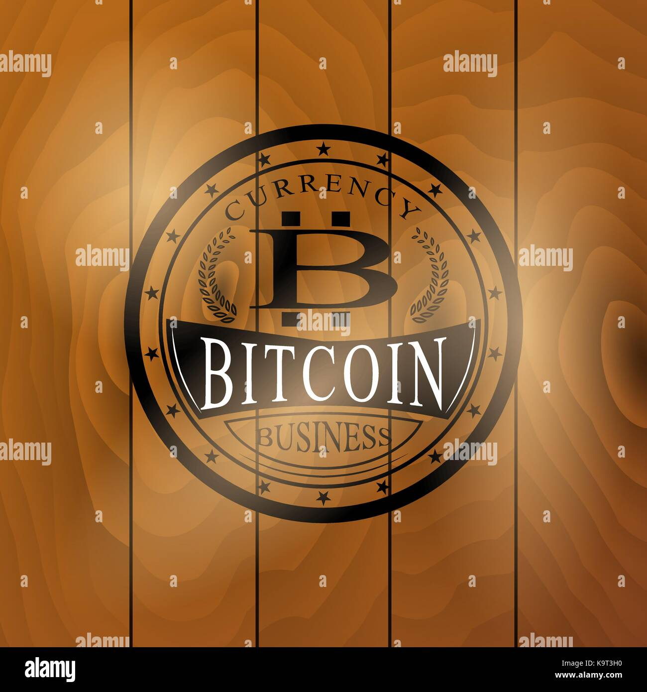 The Vector Sticker Of Bitcoin Symbol For You Business Stock Vector