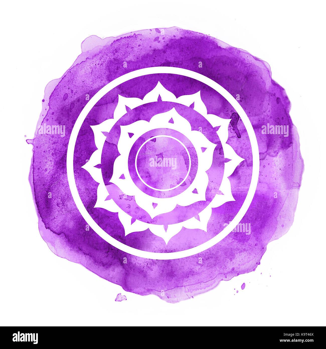 Sahasrara stock photos sahasrara stock images alamy chakra symbol stock image buycottarizona Image collections