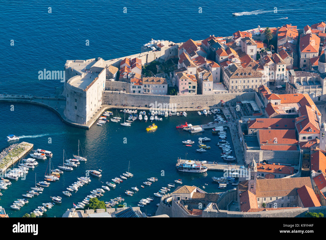 Fortress of st ivan and the marina in the old dubrovnik stock photo fortress of st ivan and the marina in the old dubrovnik publicscrutiny Gallery