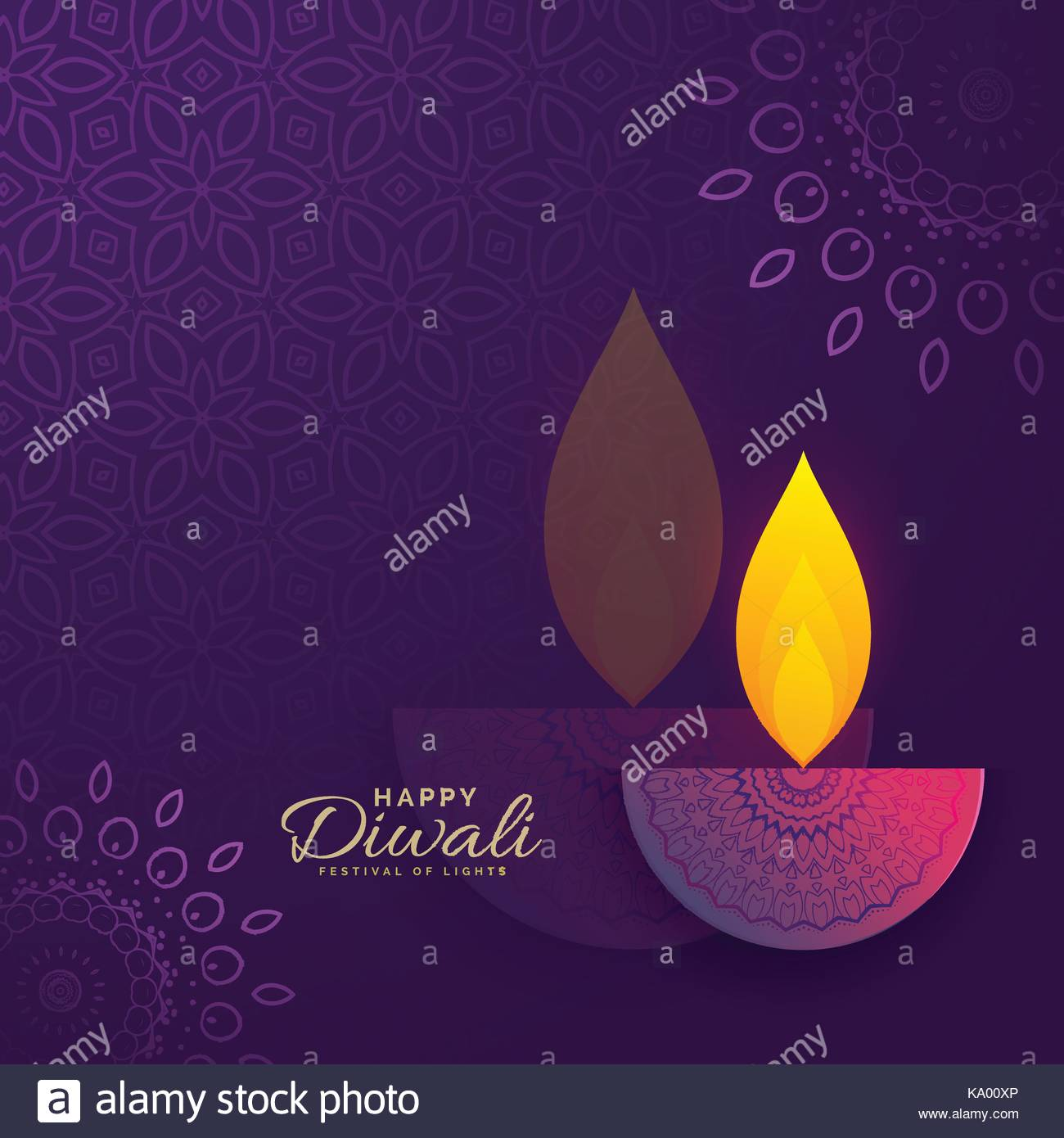 Diwali greeting card design with creative diya and ornament stock diwali greeting card design with creative diya and ornament decoration m4hsunfo