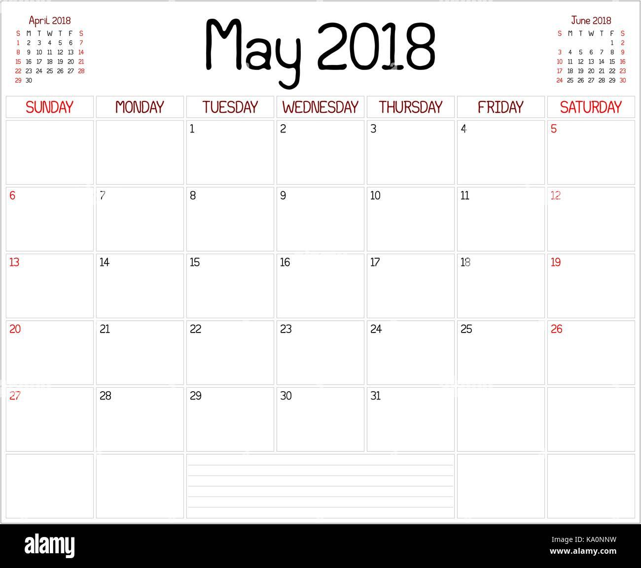 Calendar Planner May : Hand written notes calendar stock photos