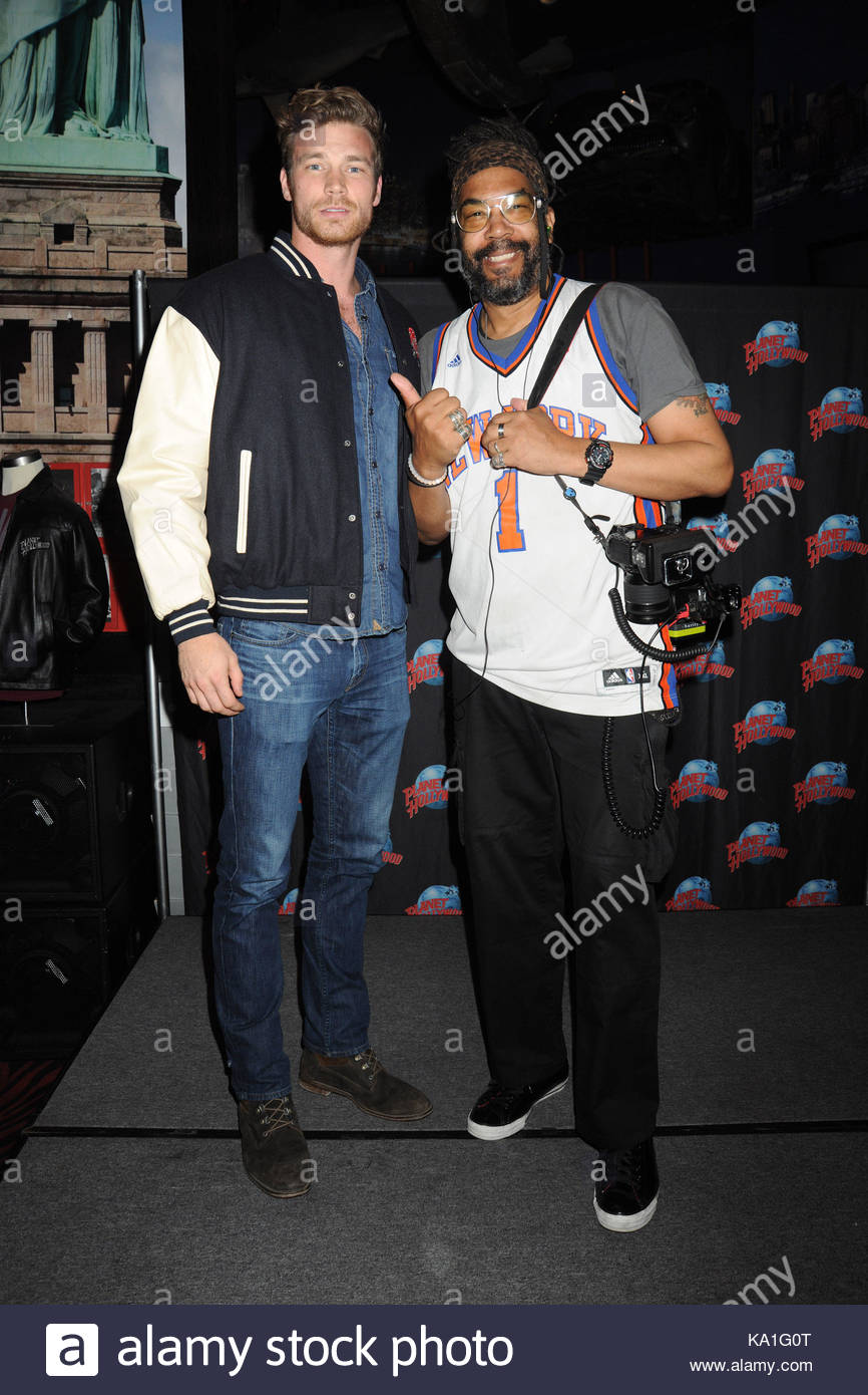 Derek theler and photographer phillippe noissette actor derek stock actor derek theler star of abc familys baby daddy hosts a meet and greet with fans at planet hollywood in times square m4hsunfo Image collections