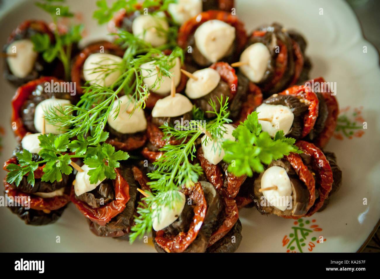 Aubergine and salami stacks forecast
