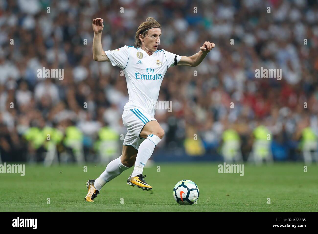 Luka Modric Real SEPTEMBER 20 2017 Football Soccer