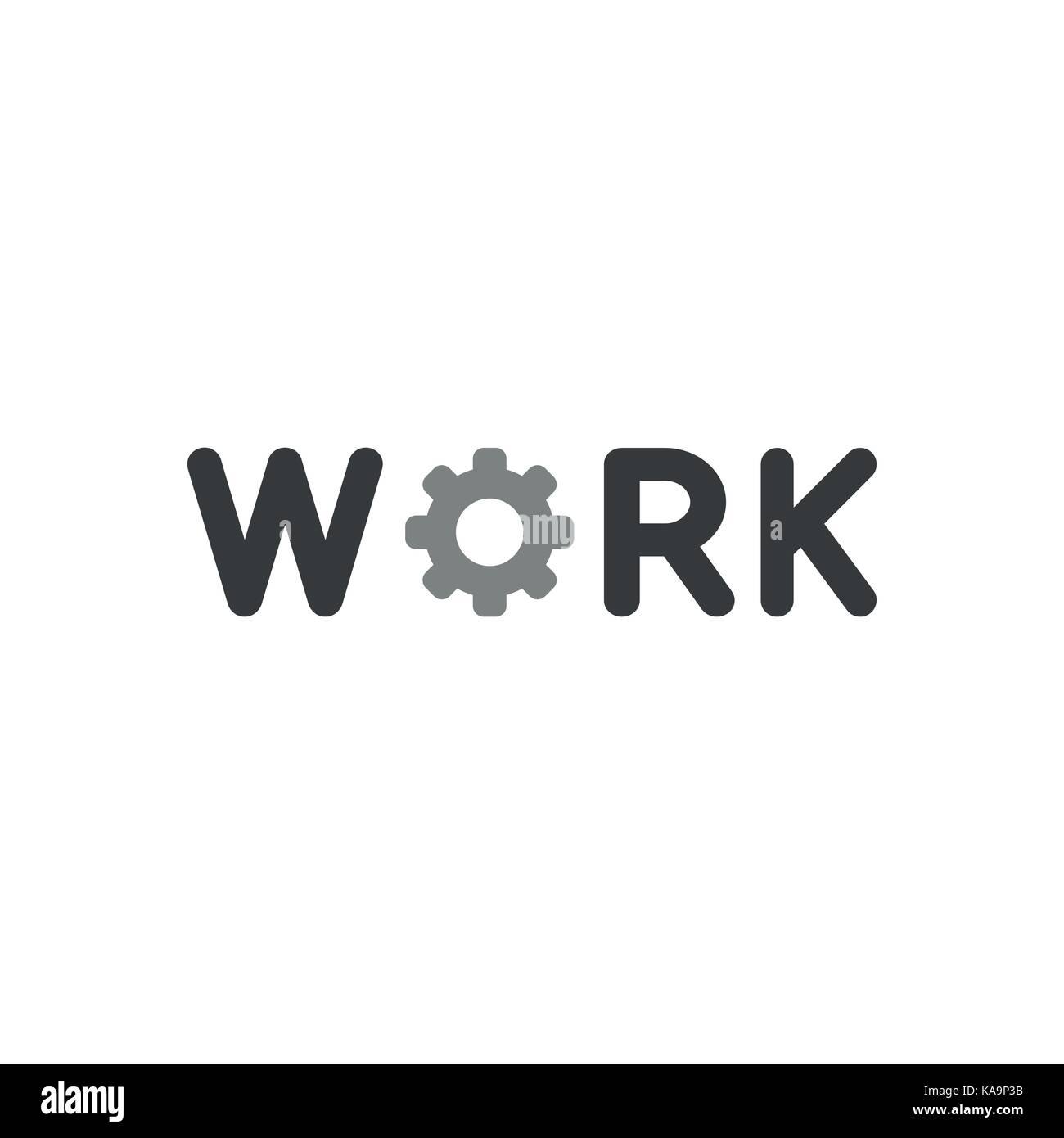 Workingman vector vectors stock photos workingman vector vectors flat design style vector illustration concept of black work text with grey gear symbol icon on biocorpaavc Images