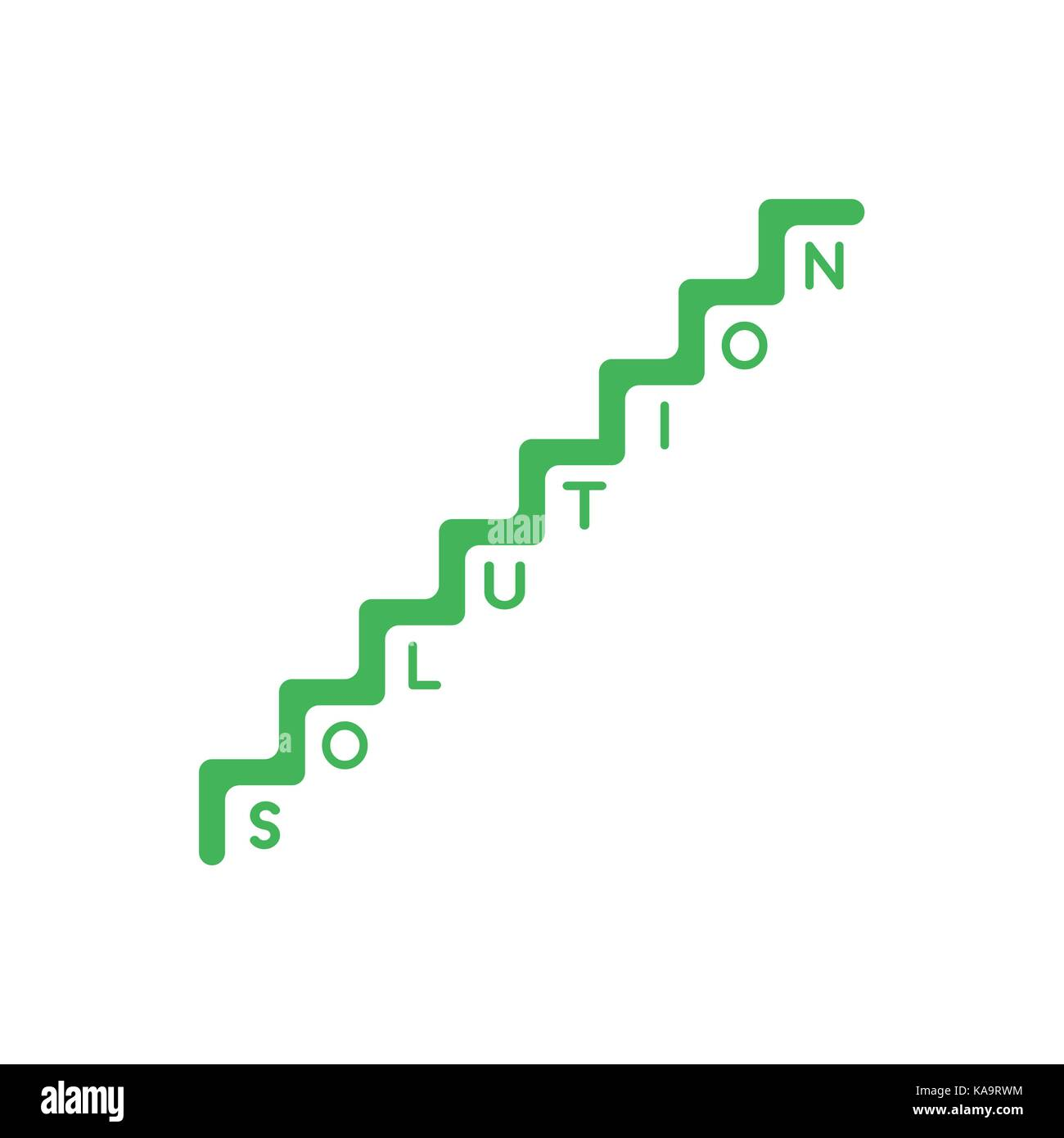 Flat design style vector illustration concept of green stairs flat design style vector illustration concept of green stairs symbol icon with solution word with one buycottarizona