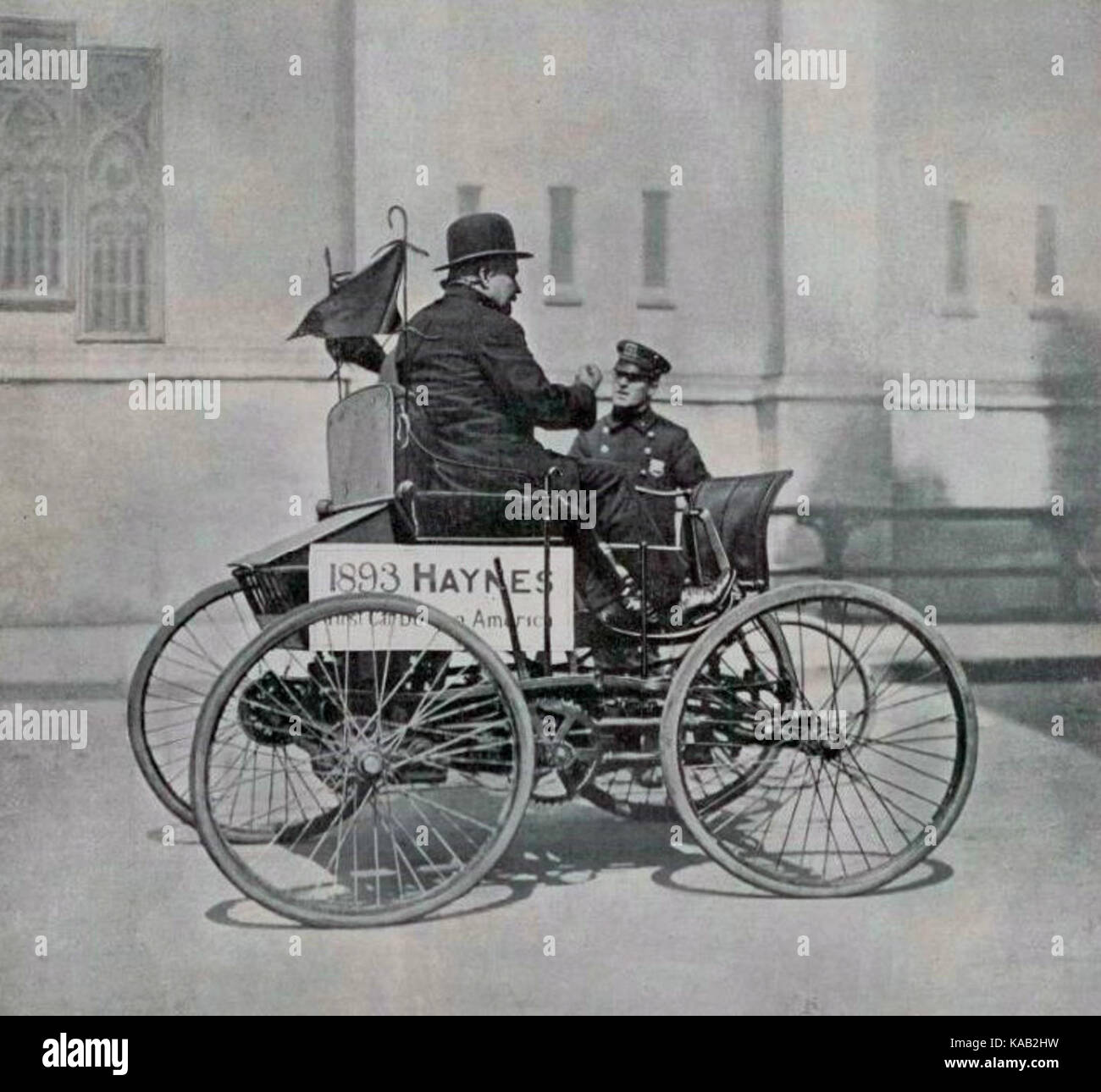 The first car built in America (1893 Stock Photo, Royalty Free Image ...