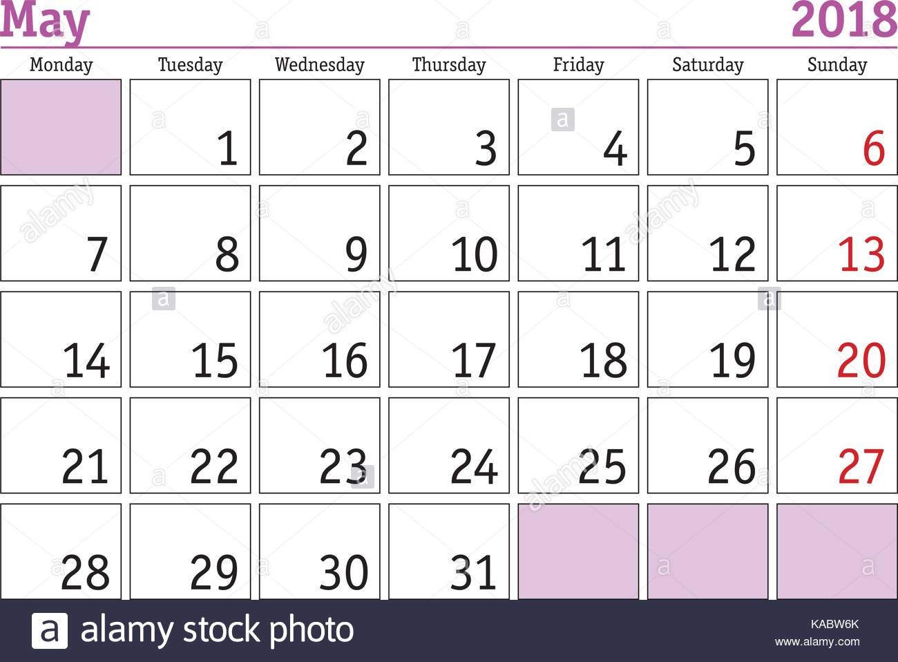 Calendar May Monday : May day weekend stock vector images alamy