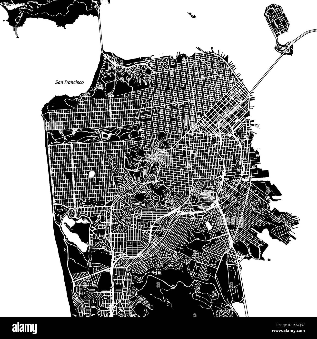 San francisco map city