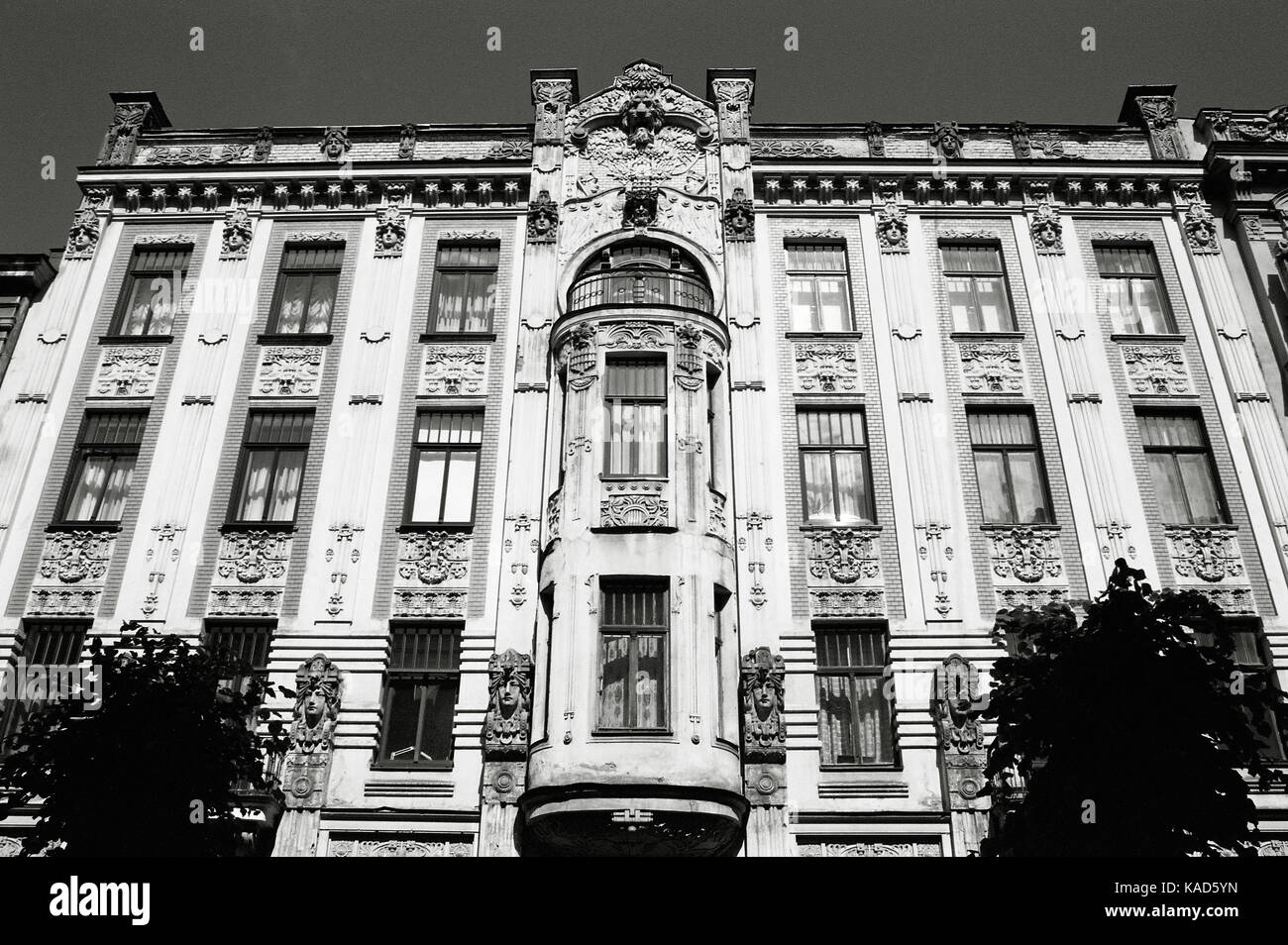 art nouveau building on alberta street in riga stock photo