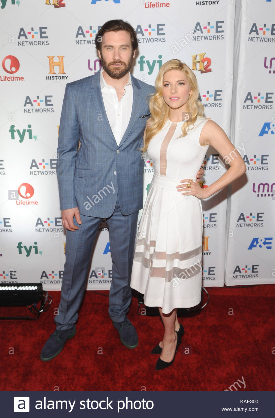clive standen and katheryn winnick celebrities come out for 2014 a