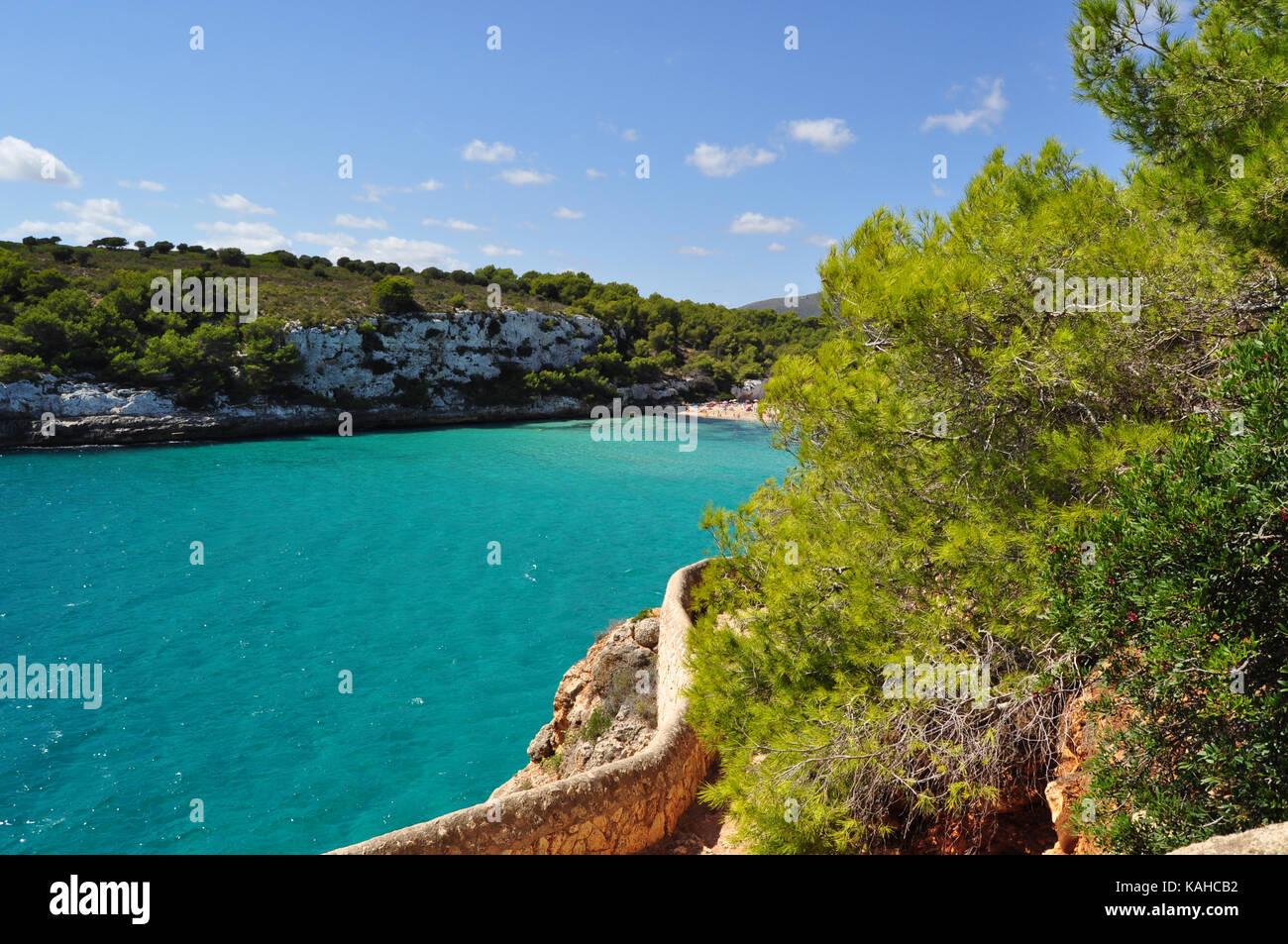 cala romantica bech in the mallorca balearic island in spain stock