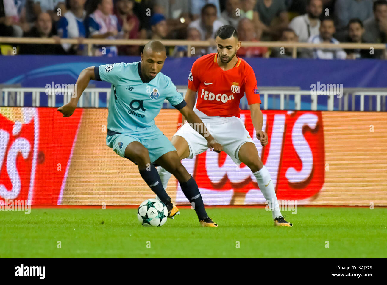Monaco France 26th Sep 2017 Yacine Brahimi L FC Porto Stock