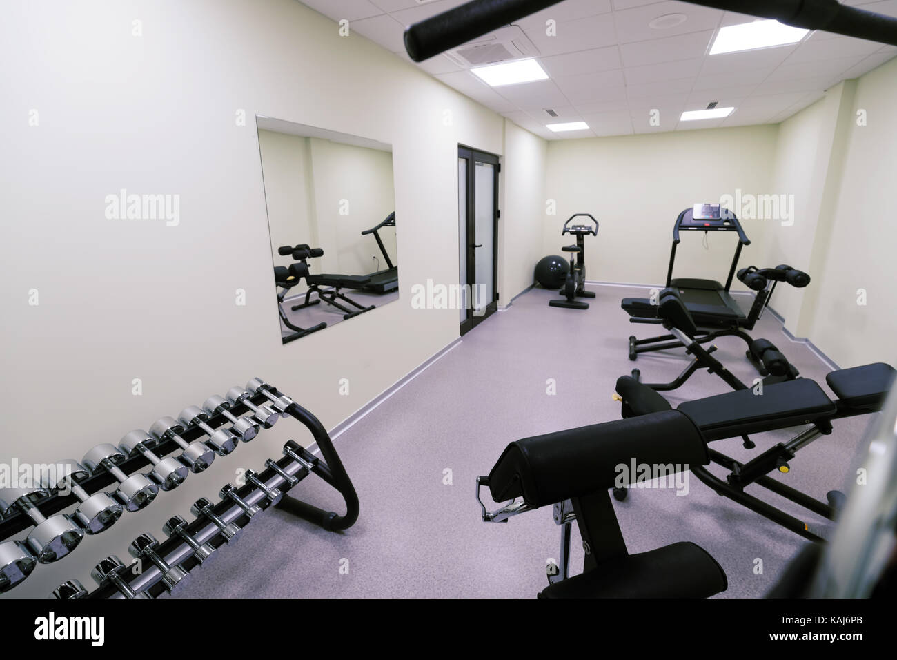Home luxury gym stock photos