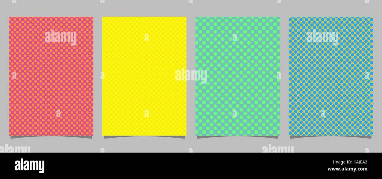 simple polka dot brochure template set vector cover background