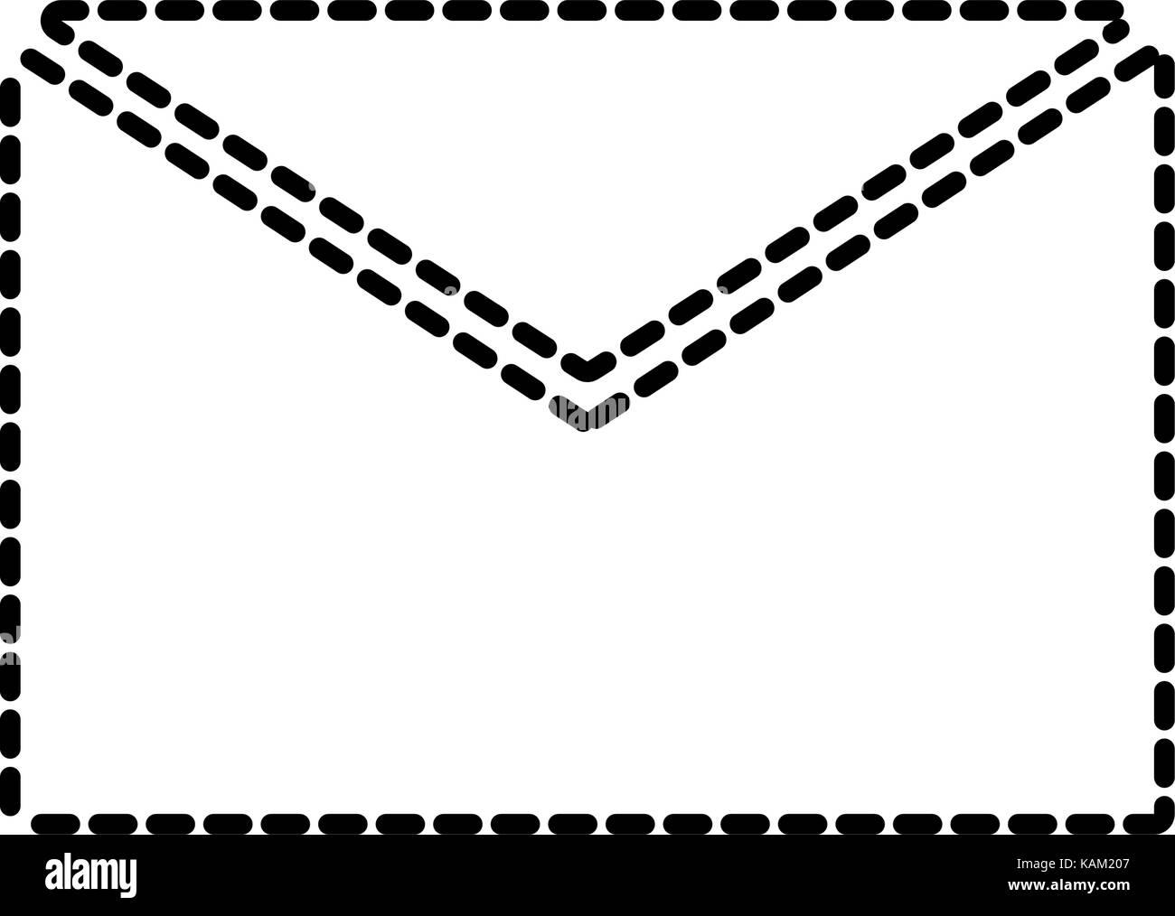 envelope sticker vector illustration stock vector art illustration