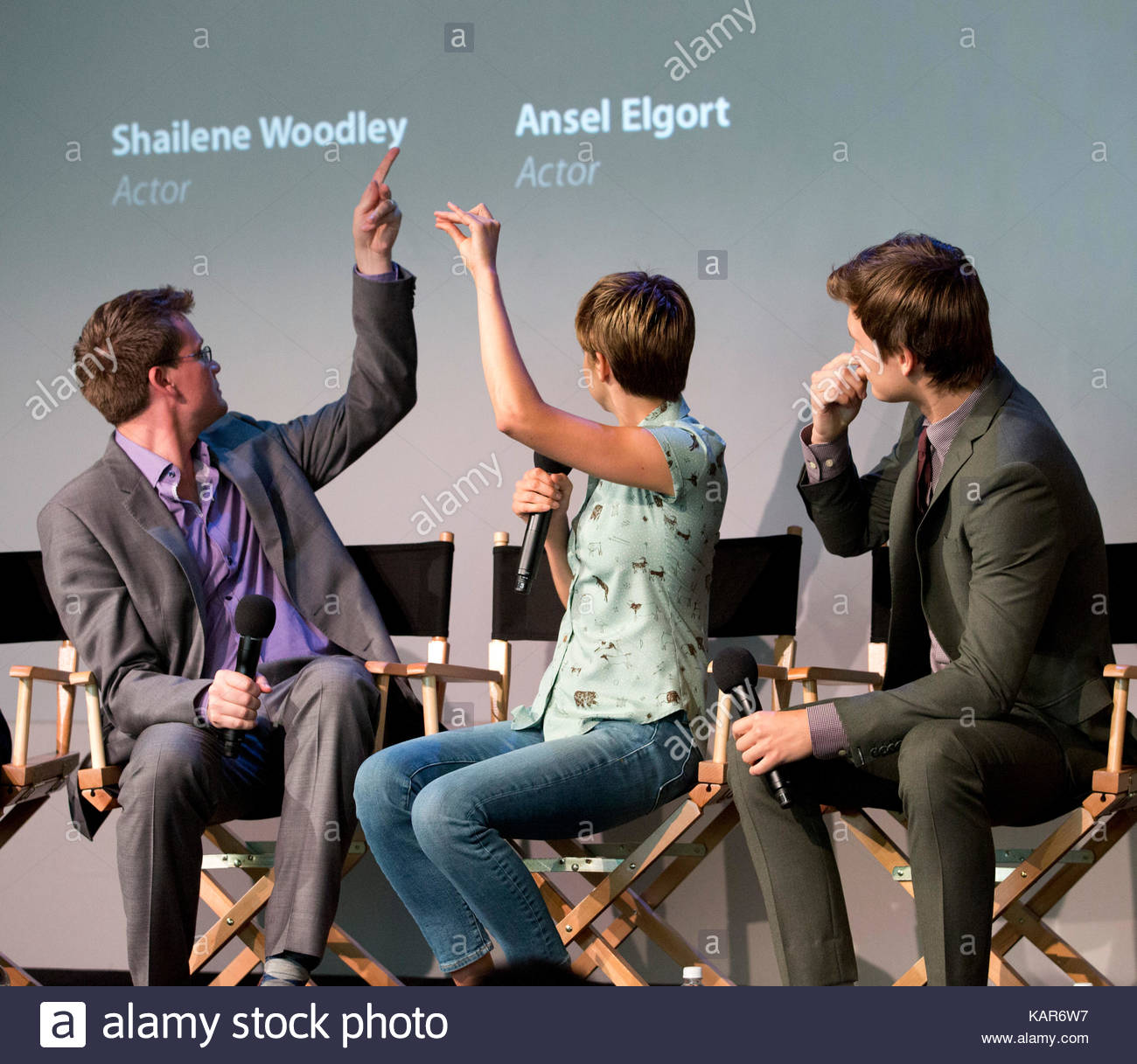 John green shailene woodley ansel elgortcast of the fault in our john green shailene woodley ansel elgortcast of the fault in our stars at apple store meet the filmmaker event in ny the cast was very lively and spoke m4hsunfo
