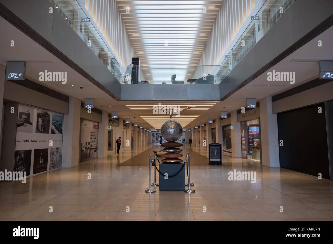 Interior of the Mailbox Birmingham city centre Stock Photo