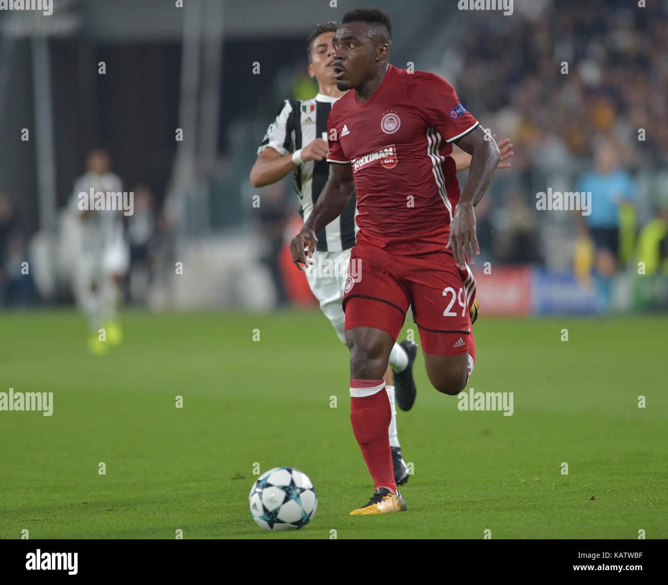 Turin Italy 27th Sep 2017 Paulo Dybala Juventus FC Emmanuel