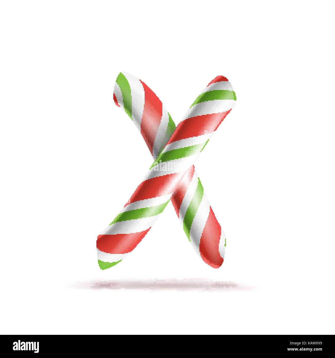 Christmas Alphabet Letter X Stock Photo - Image of colorful ...