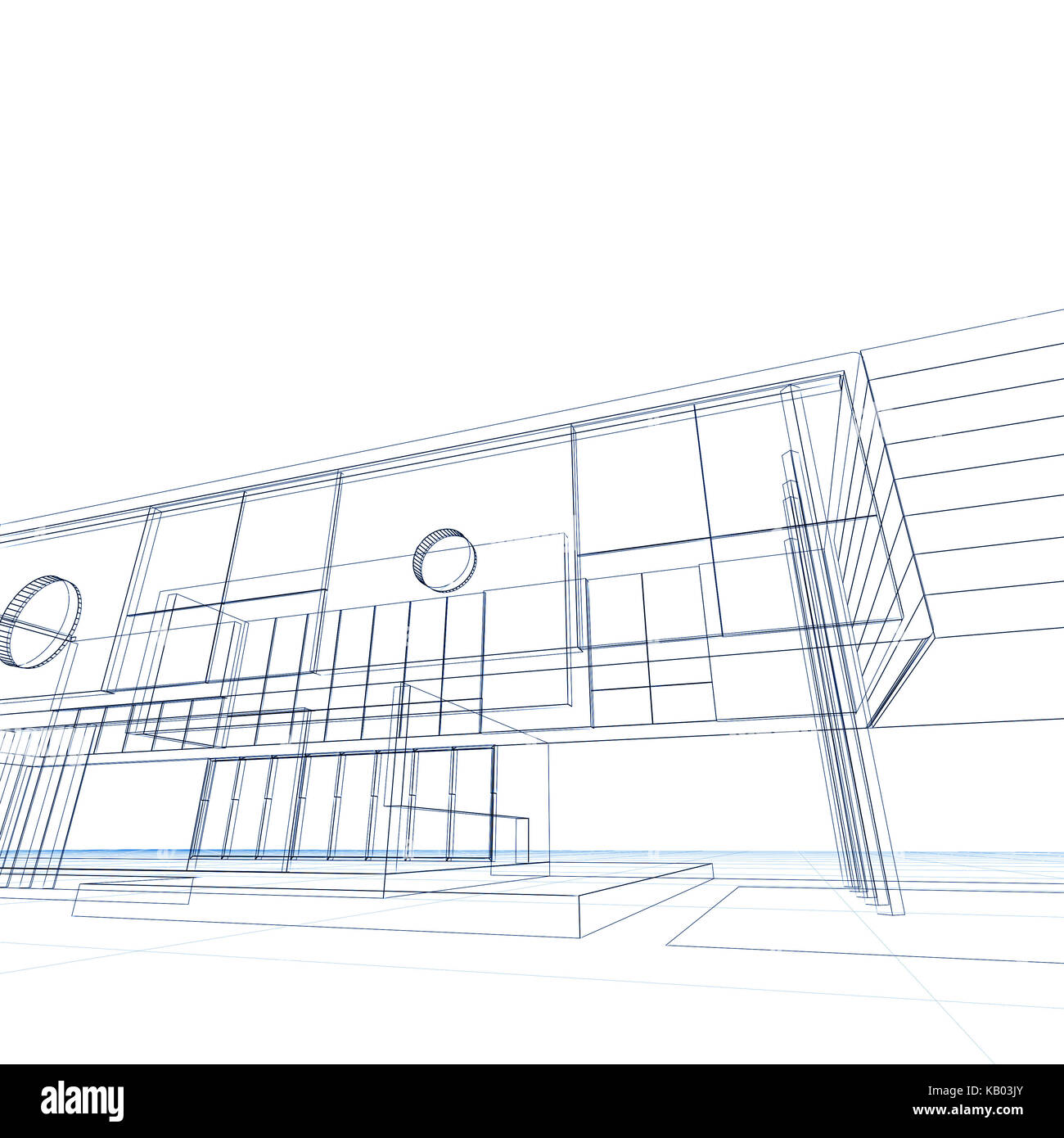 Blueprint on white building design and 3d rendering model my own blueprint on white building design and 3d rendering model my own malvernweather Choice Image