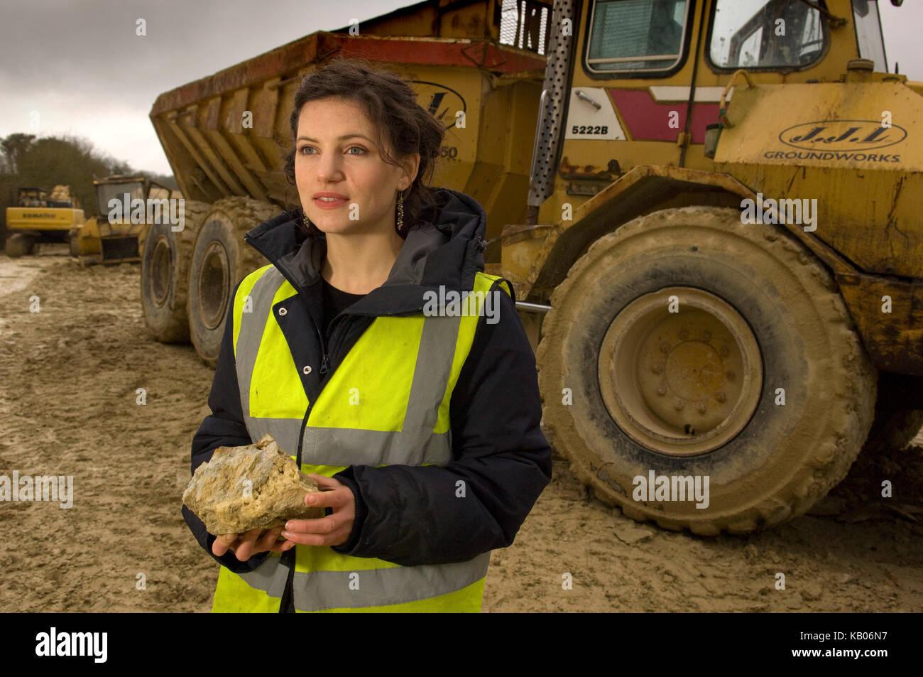 Sarah Price, garden Designer at Chicksgrove Quarry, Tisbury Stock ...