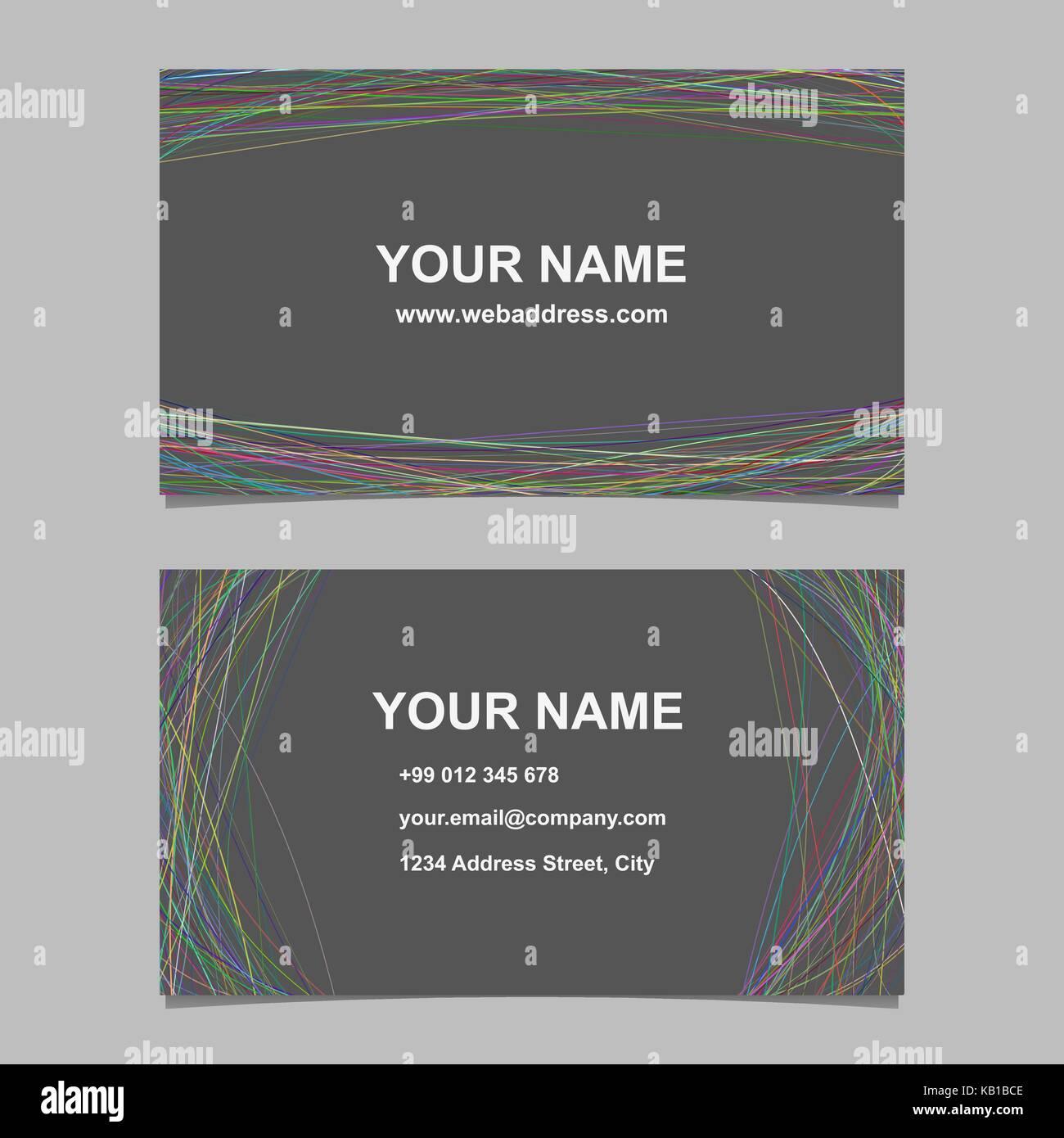 Modern business card template design set vector id card design modern business card template design set vector id card design with arched lines on grey background flashek Gallery