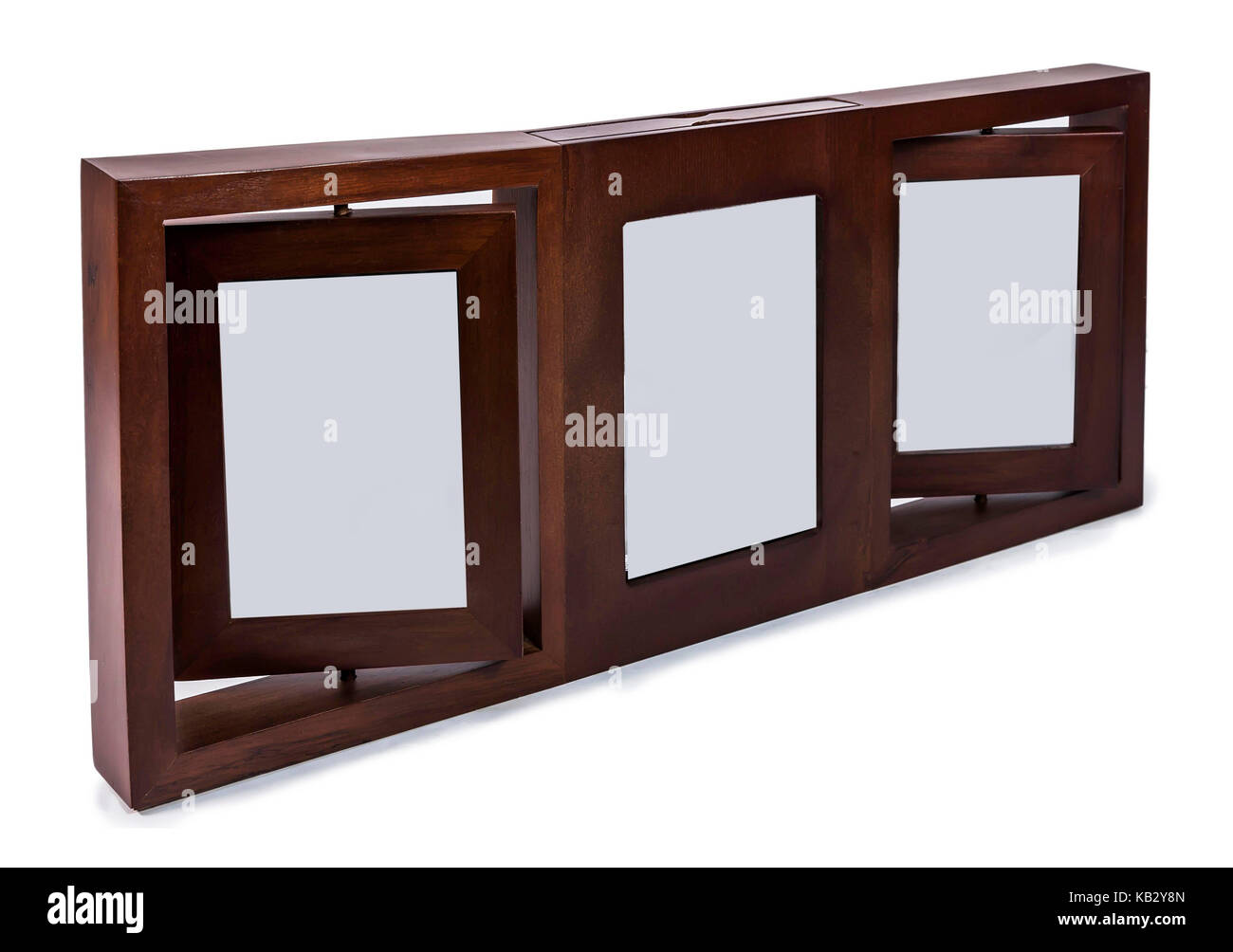 Brown wooden photo frame set 3 frame rotated in a plane isolated brown wooden photo frame set 3 frame rotated in a plane isolated on white background jeuxipadfo Gallery