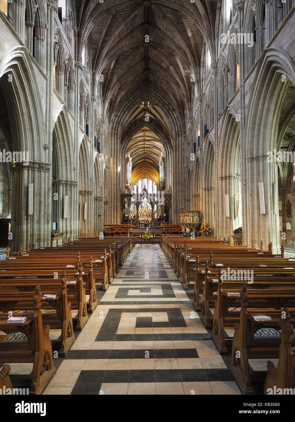 Nave Worcester Cathedral Worcester Worcestershire Stock