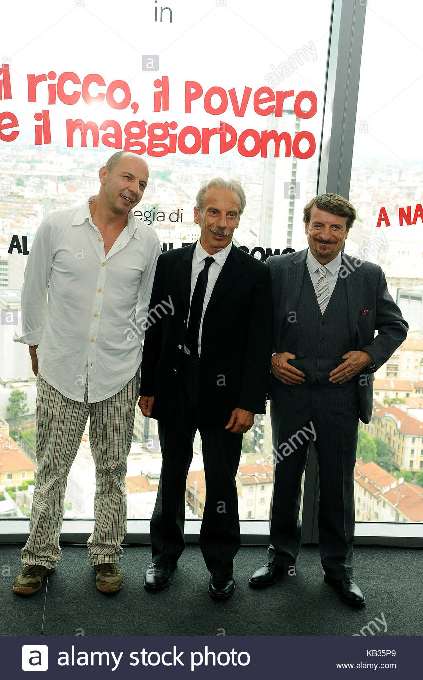 giovanni storti, aldo baglio and giacomo poretti. the cast of the