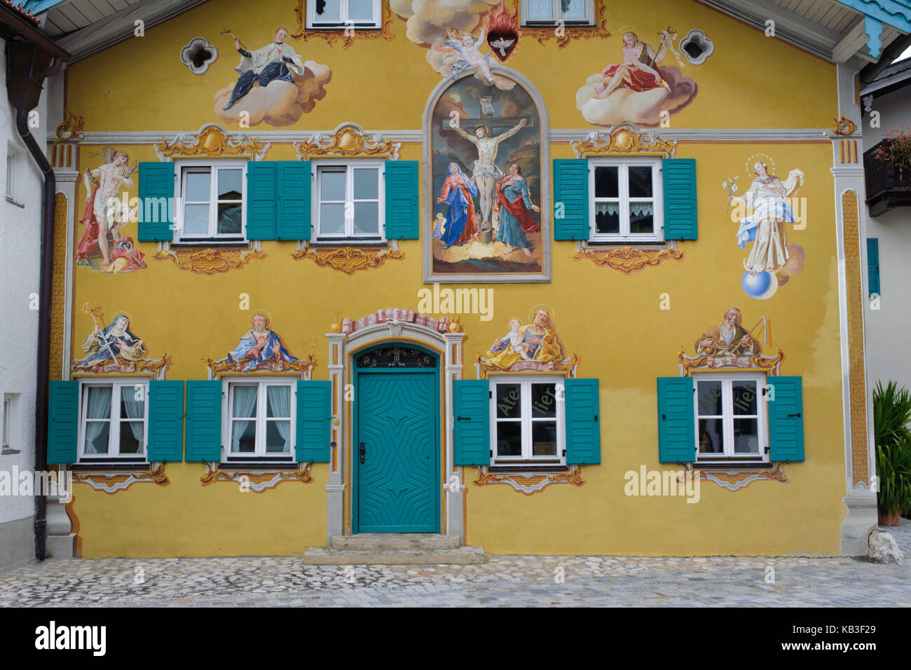 Trompe L Oeil Malerei mittenwald house with lüftlmalerei of trompe l oeil on houses