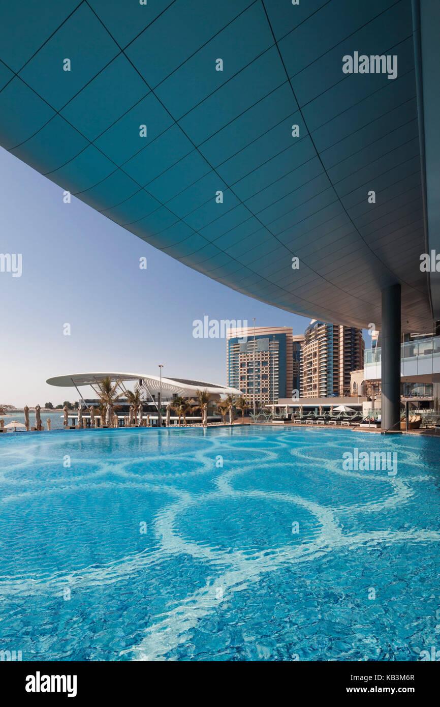 Jumeirah at etihad towers stock photos jumeirah at etihad towers stock images alamy for Swimming pool offers in abu dhabi