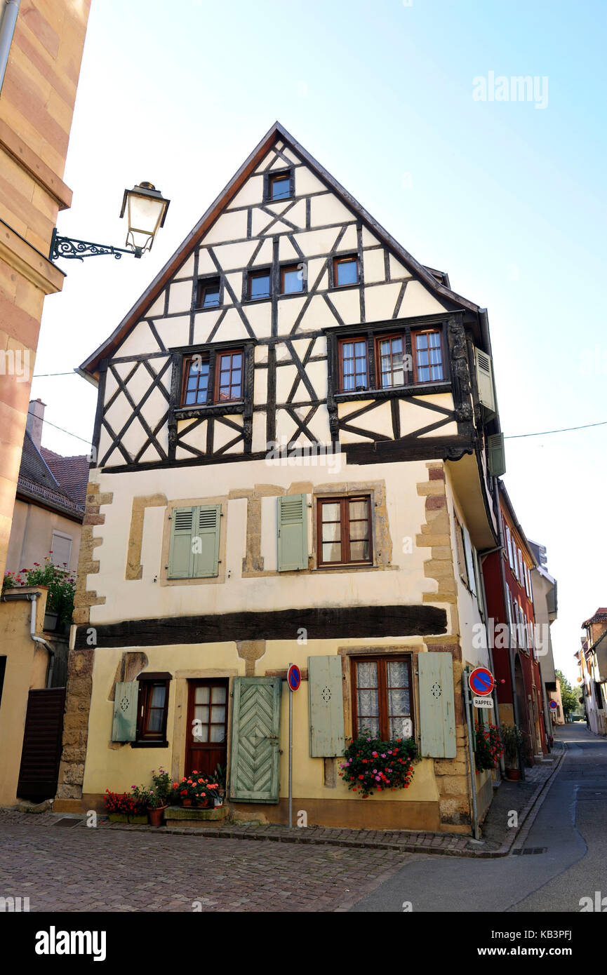 Alsace village house wine stock photos alsace village for Blue piscine colmar