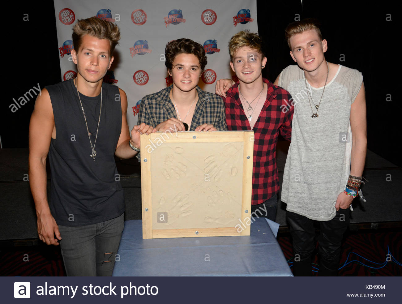 The vamps james mcvey connor ball bradley simpson and tristan the vamps james mcvey connor ball bradley simpson and tristan evans the vamps appear at planet hollywood times square nyc for a fan meet and greet m4hsunfo