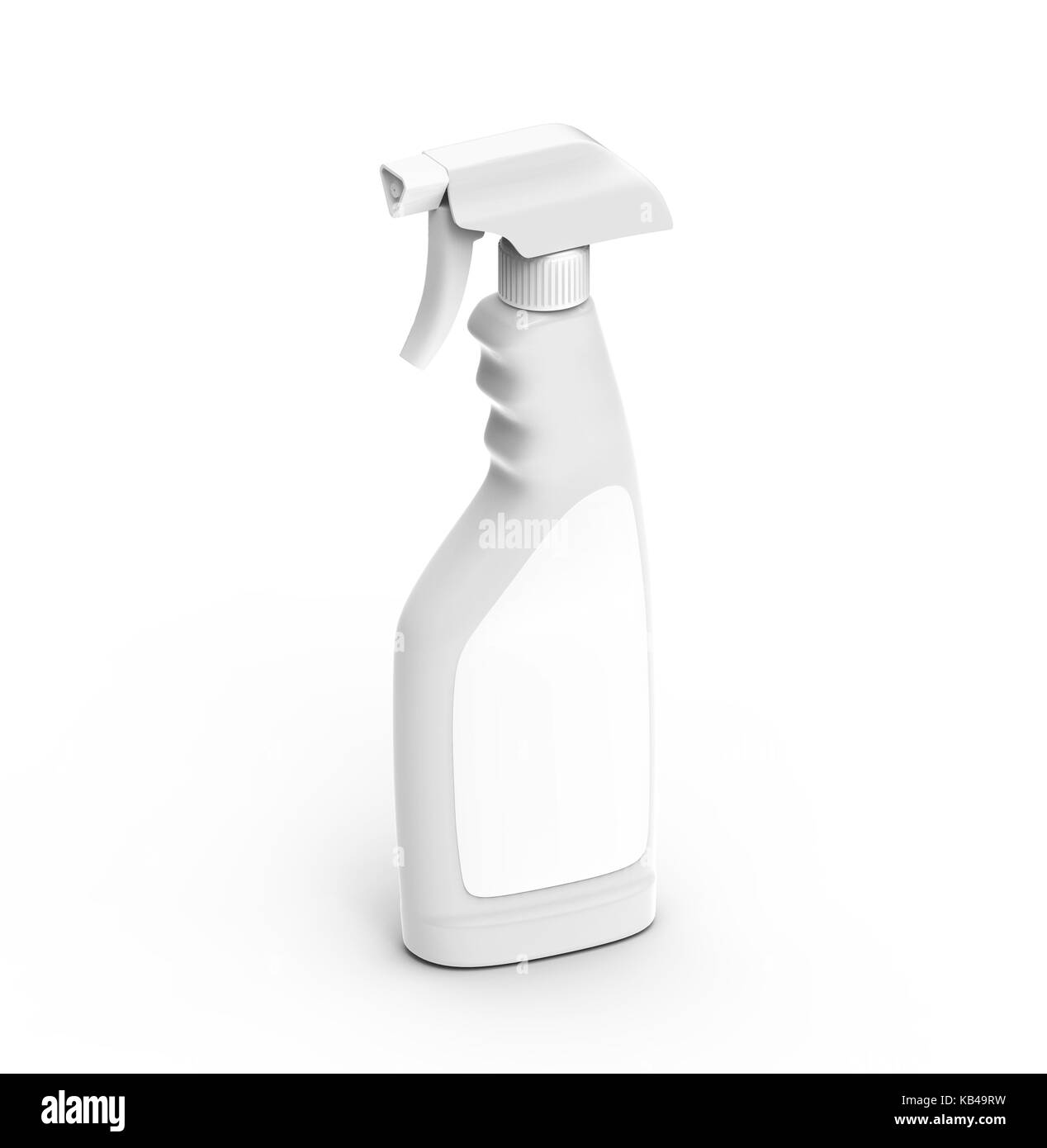glass cleaner mockup 3d rendering spray bottle template with blank